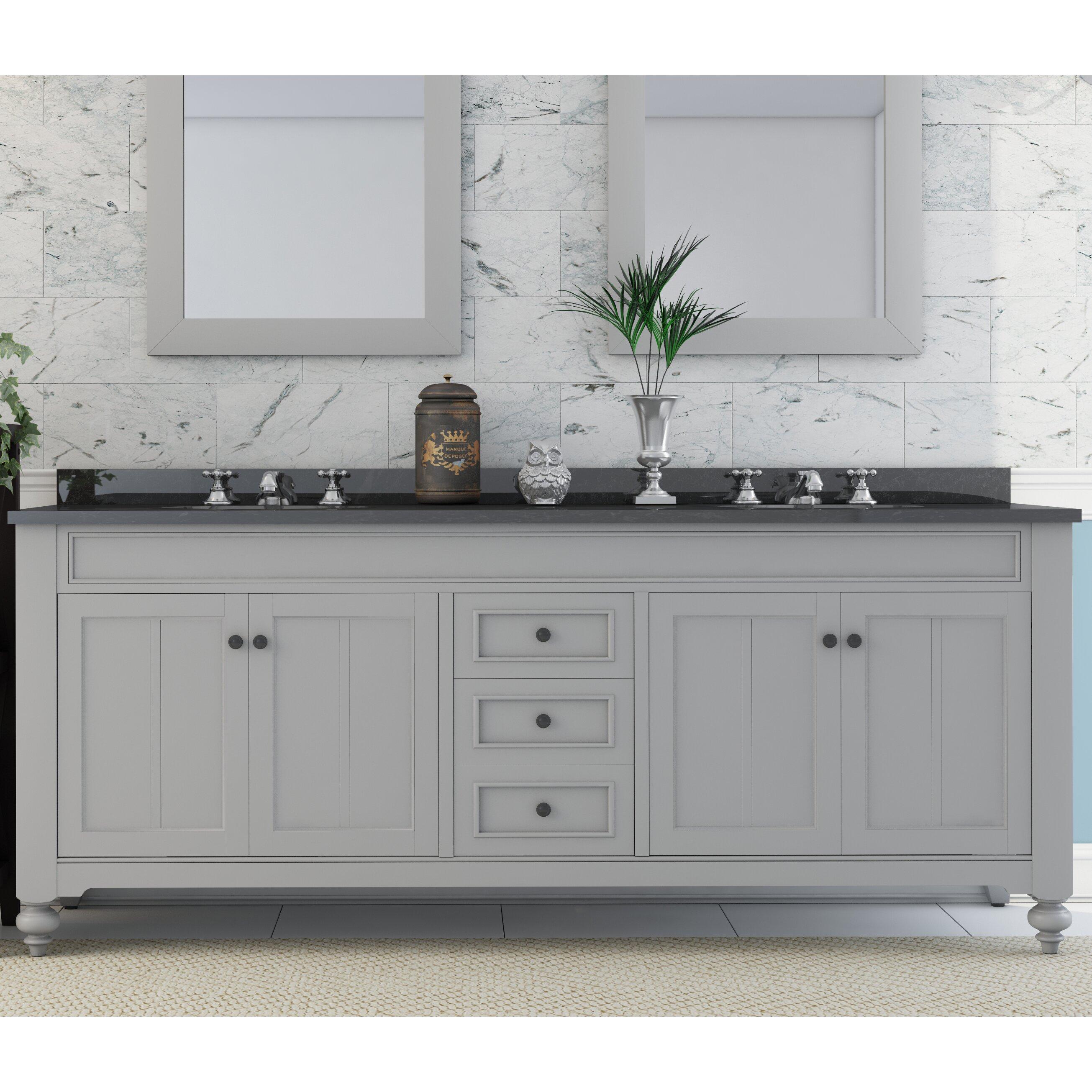 Three Posts Monique 72 quot  Double Sink Bathroom Vanity Set. Monique 72  Double Sink Bathroom Vanity Set   Reviews   Joss   Main