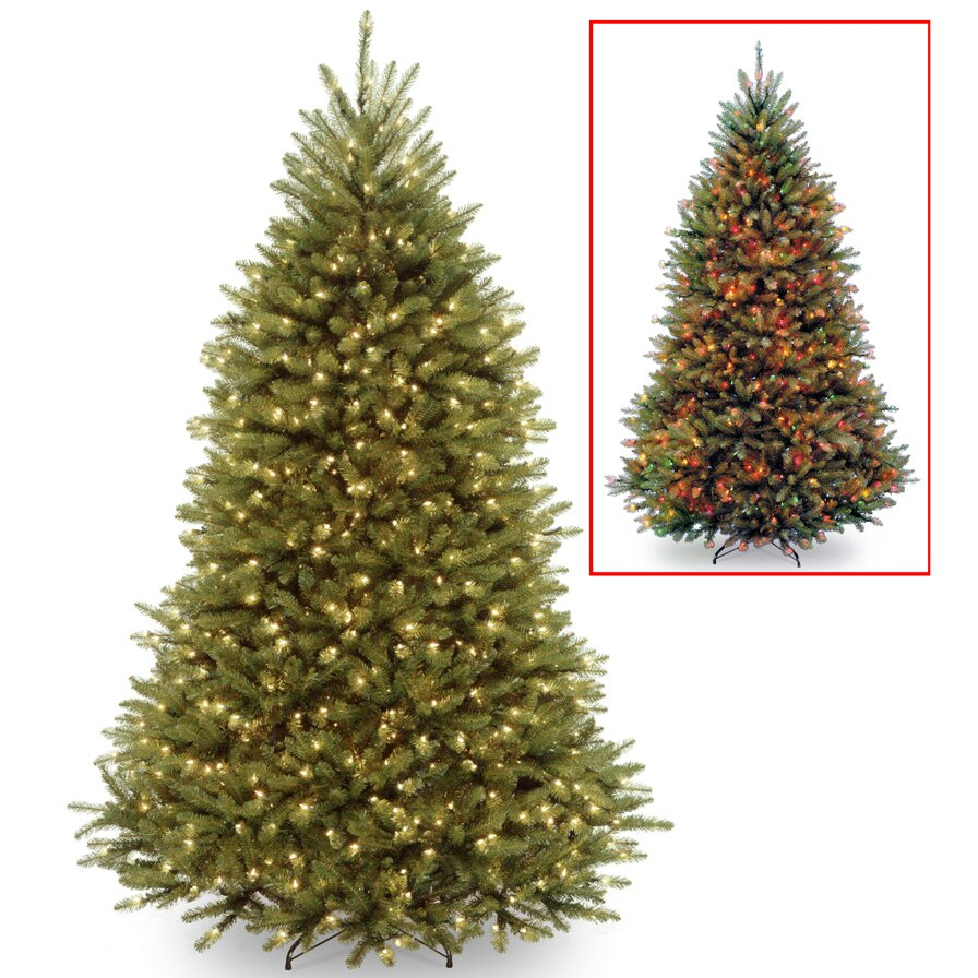 three postsu0026trade 75u0027 green fir artificial christmas tree with led 700 colored and multi - Small Christmas Tree With Lights