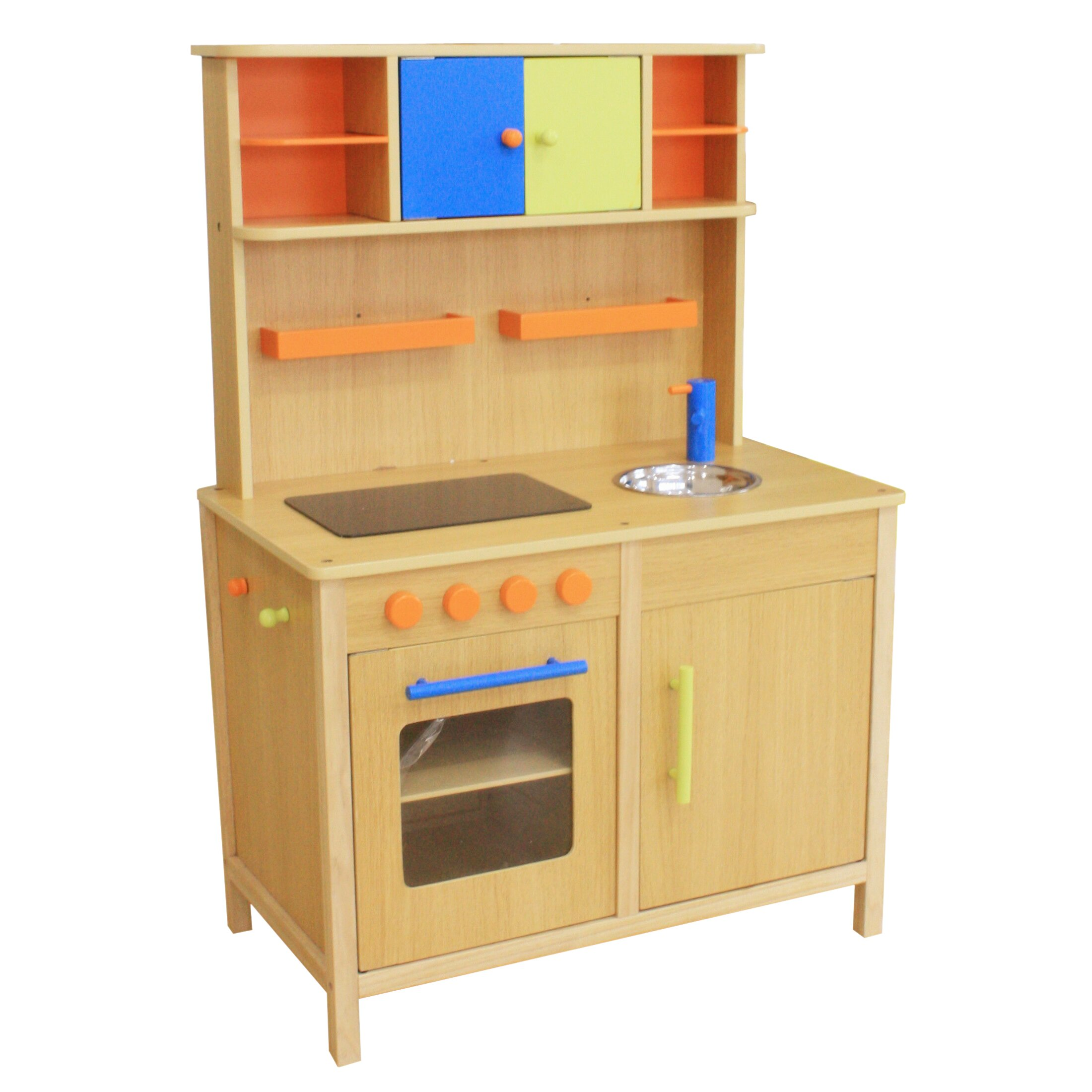 Play Kitchen Berry Toys Lots Of Fun Wooden Play Kitchen Reviews Wayfair