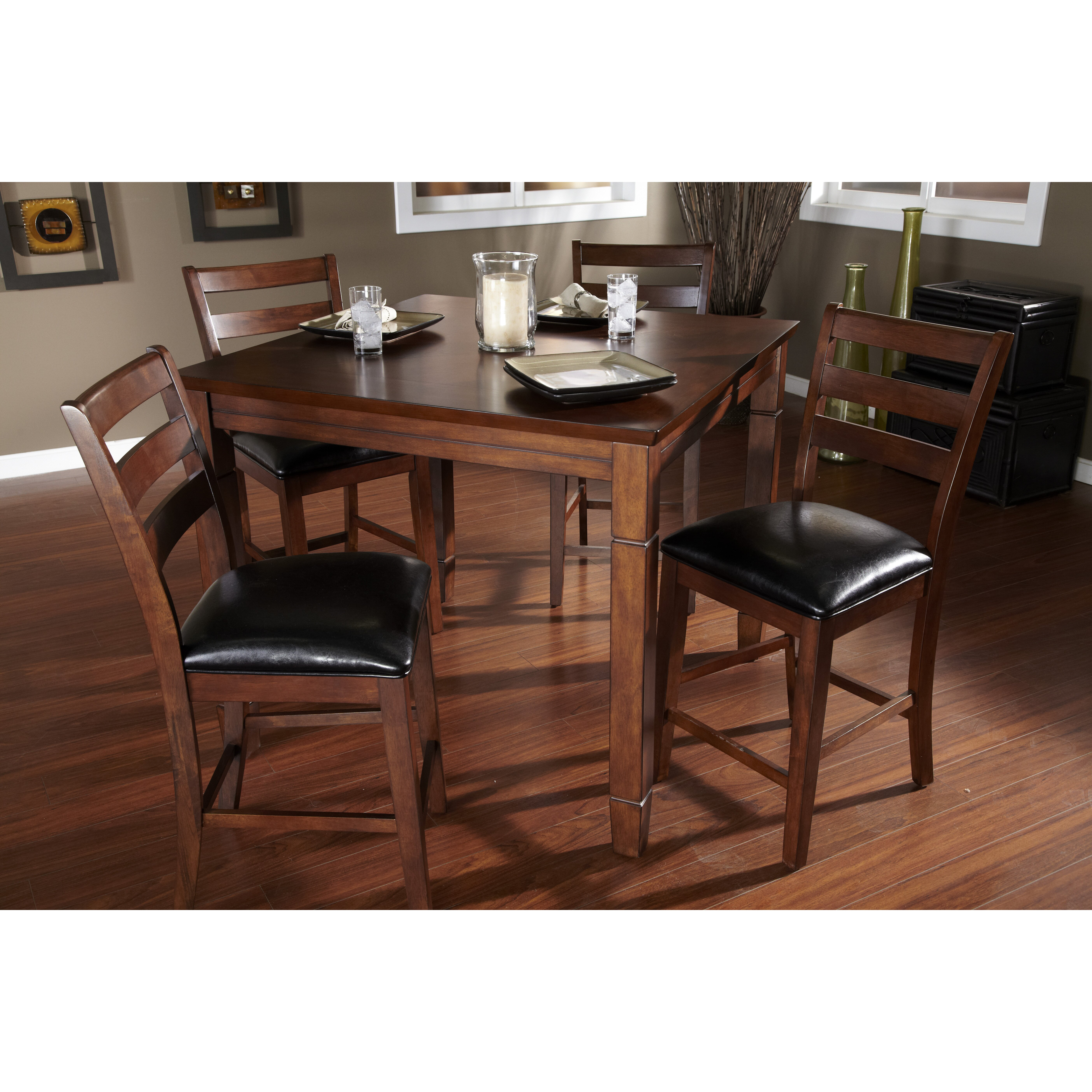 american heritage rosa 5 piece counter height dining set - Counter Height Chairs