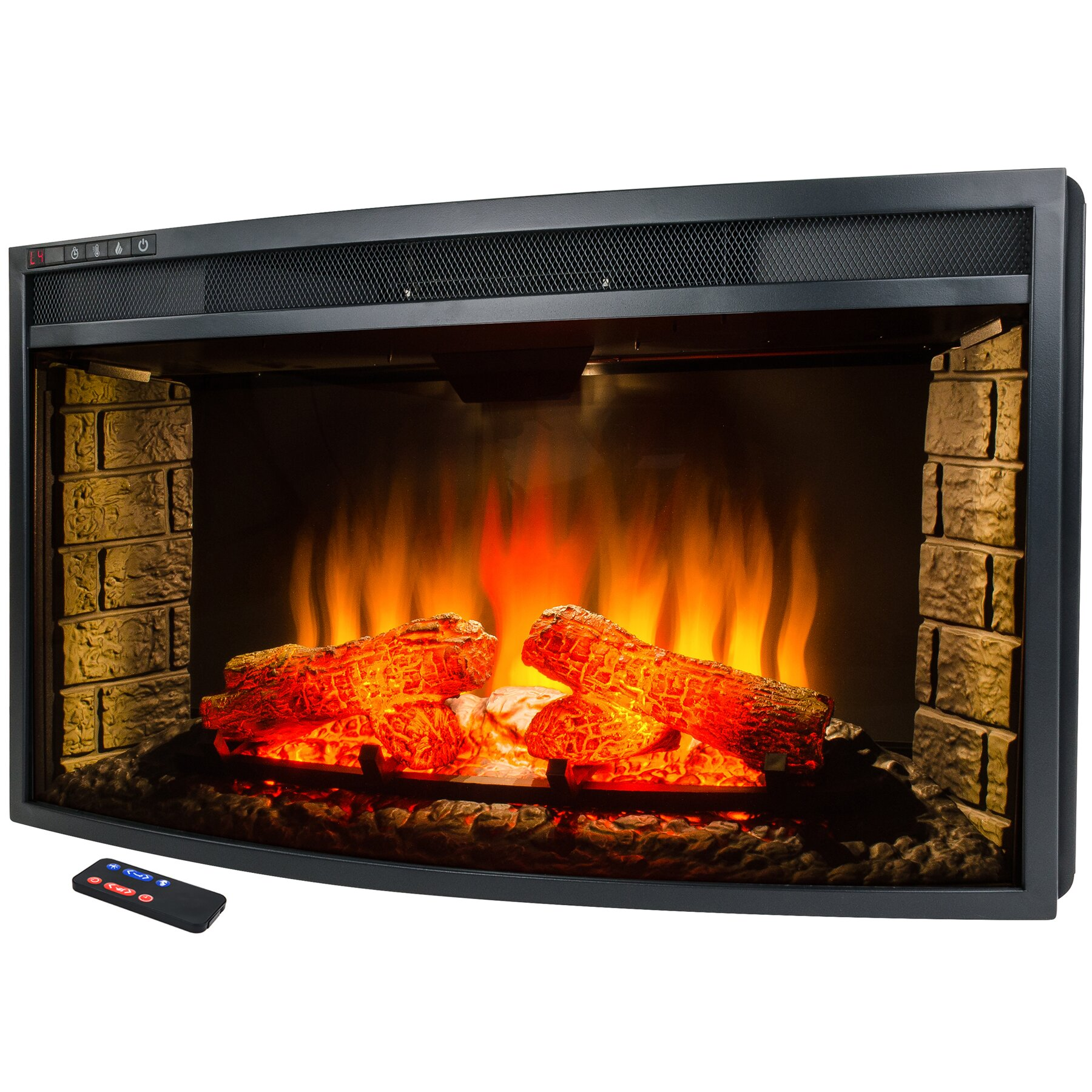 free standing electric fireplace dact us