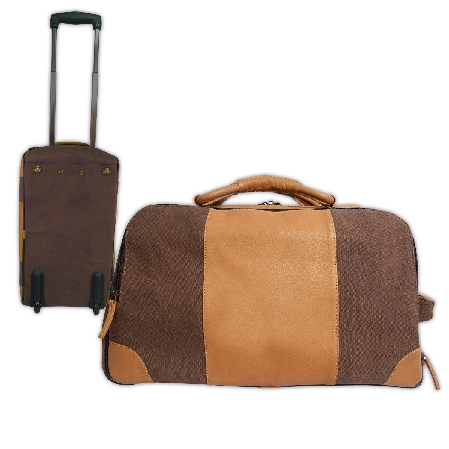 Canyon outback leather stilson 20 quot 2 wheeled travel duffel wayfair