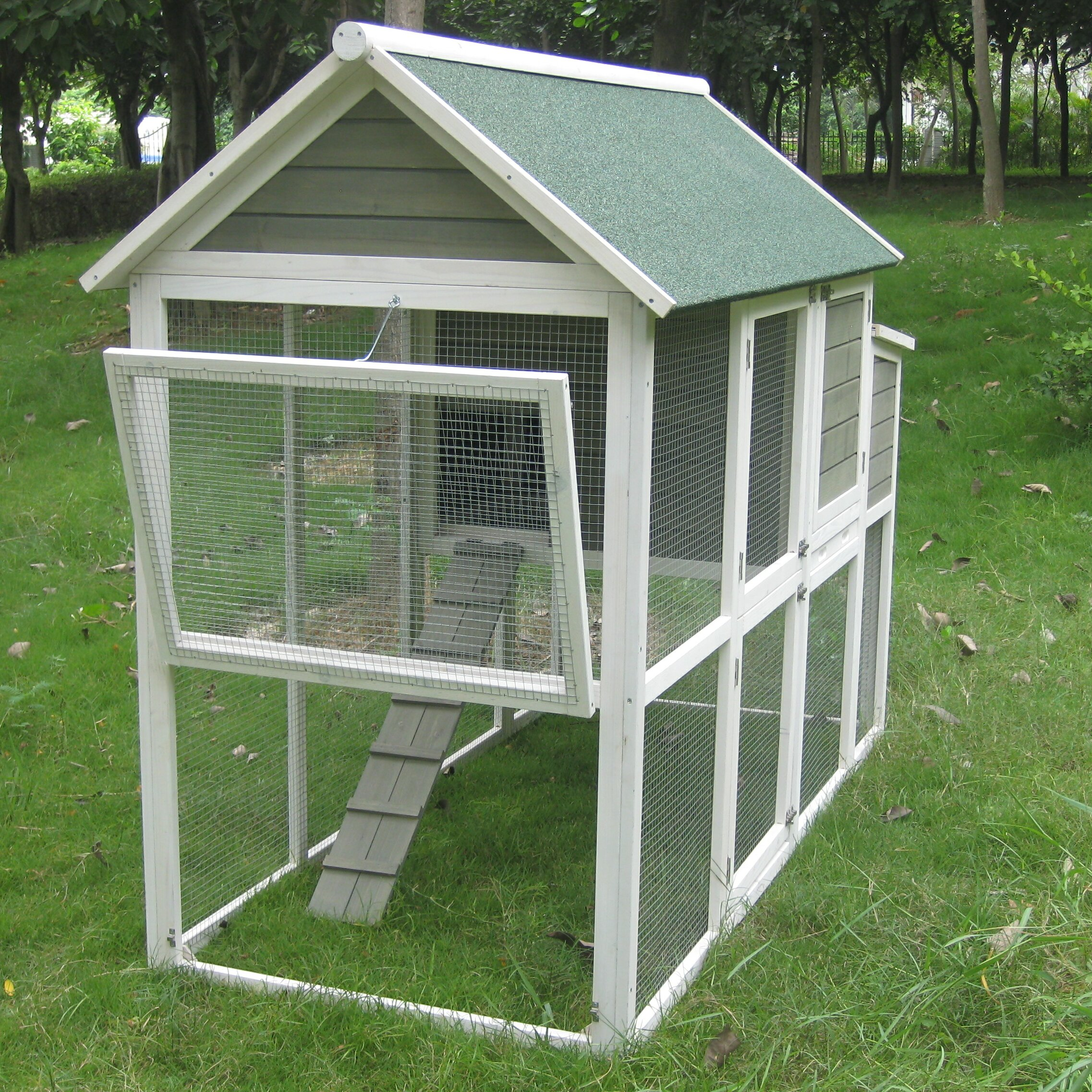 Innovation pet extra large green walk in coop