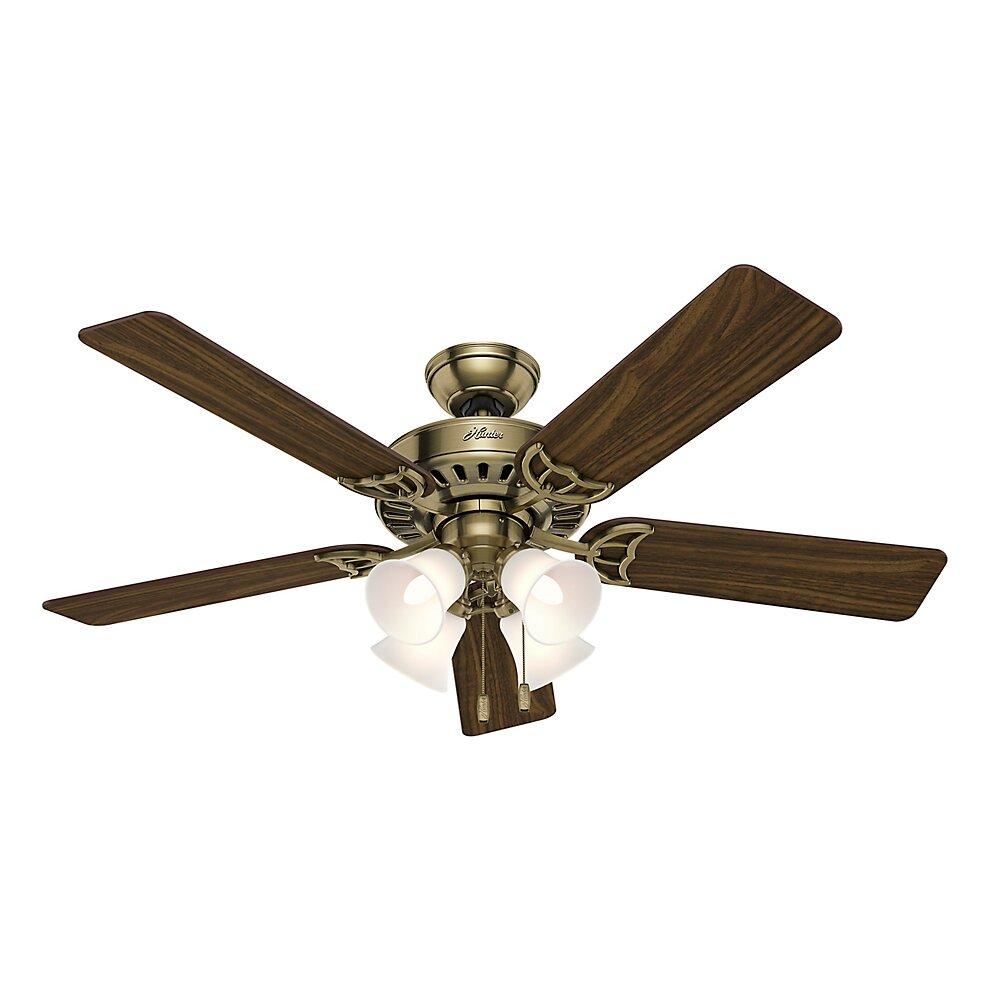 """Hunter Fan 52"""" Studio Series 5 Blade Ceiling Fan & Reviews"""