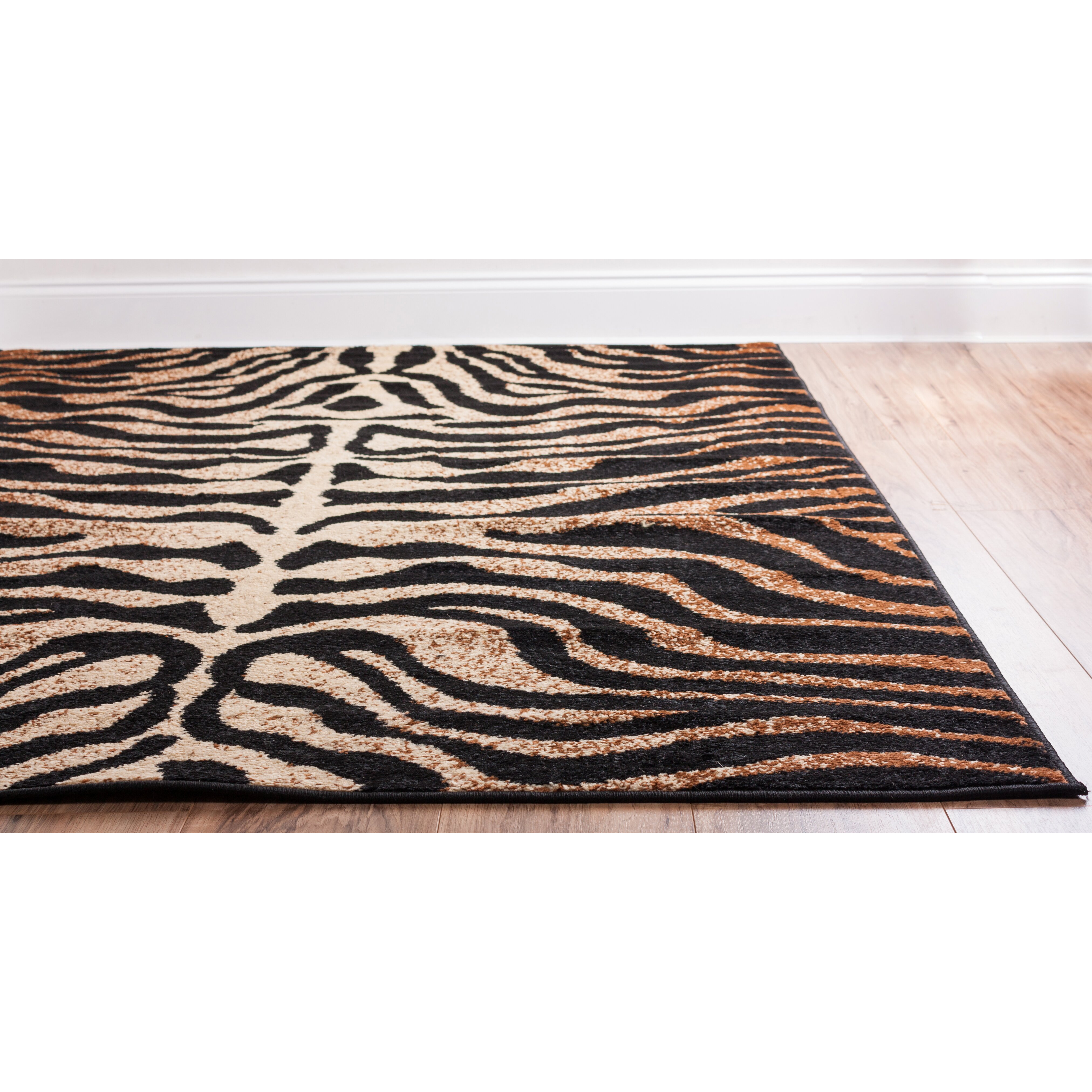 Well Woven Royal Court 3 Piece Black/Brown Area Rug Set