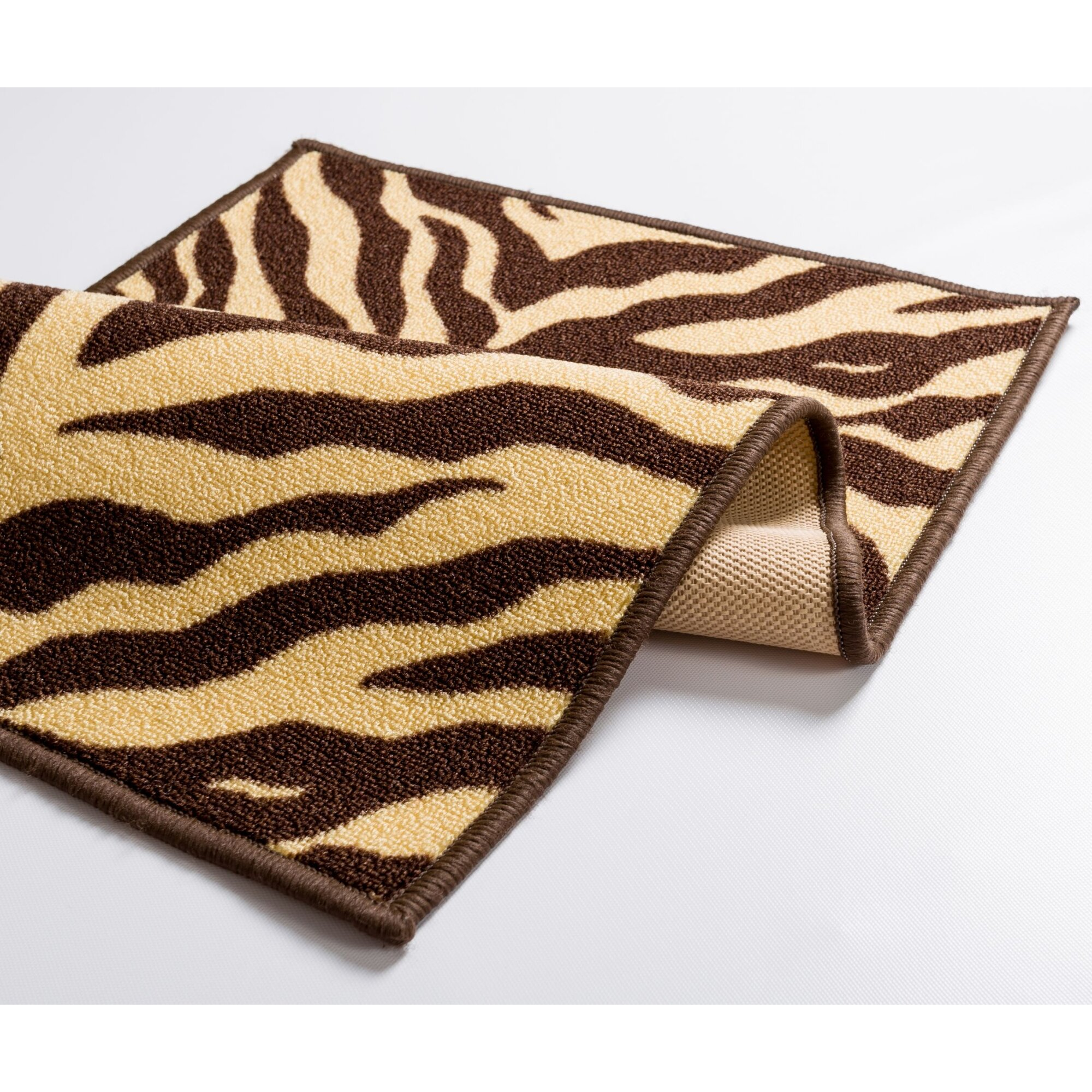 Well Woven Kings Court Brown Zebra Animal Print Rug