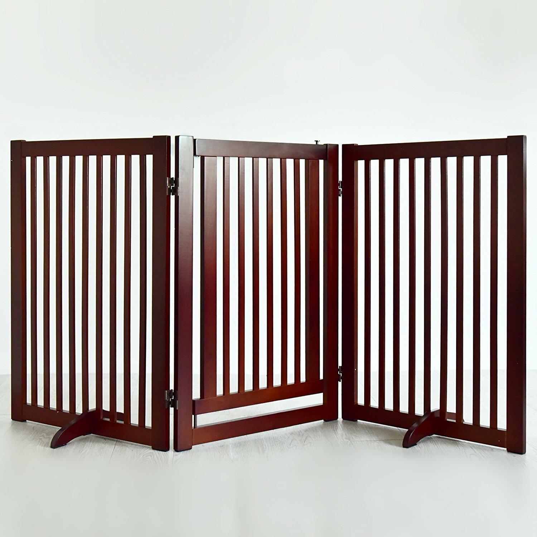 Welland industries llc wood freestanding pet gate with