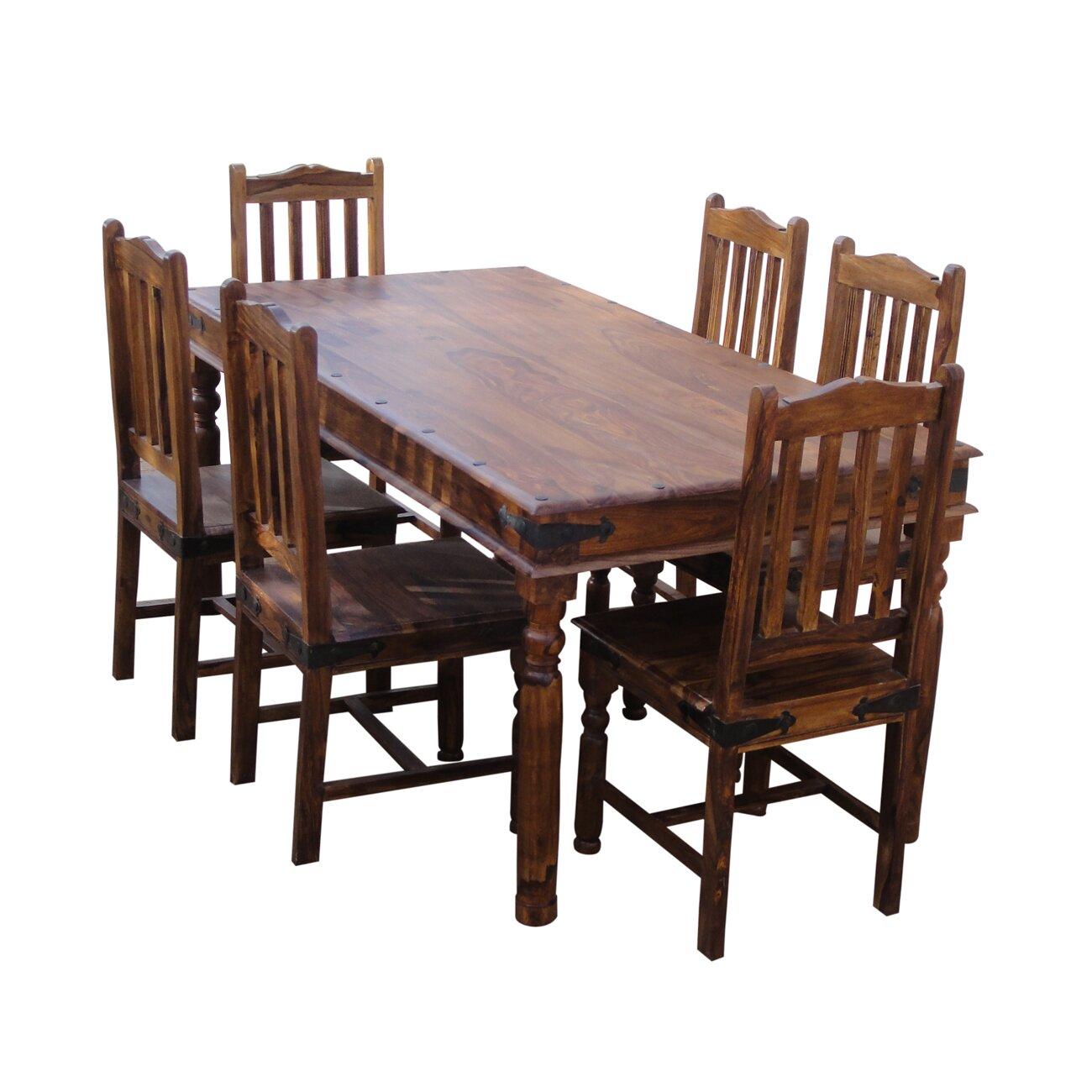 Sheesham Bedroom Furniture Ethnic Elements Ganga Sheesham Dining Set With 6 Chairs Reviews