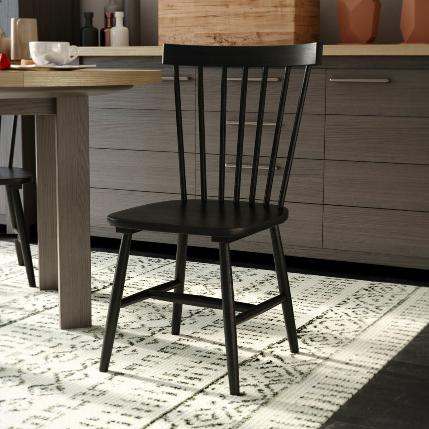 Kitchen Dining Chairs Solid Wood 8: Fjørde & Co Lawrence Solid Wood Dining Chair & Reviews
