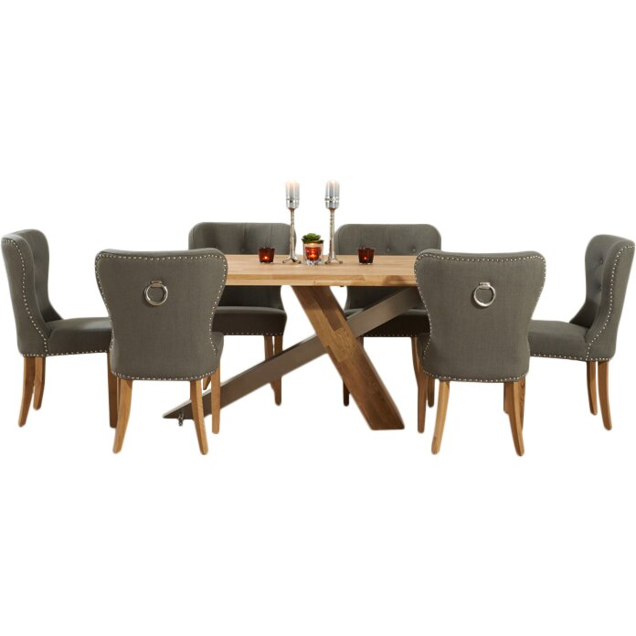 Home Etc Ohio Dining Set With 6 Chairs