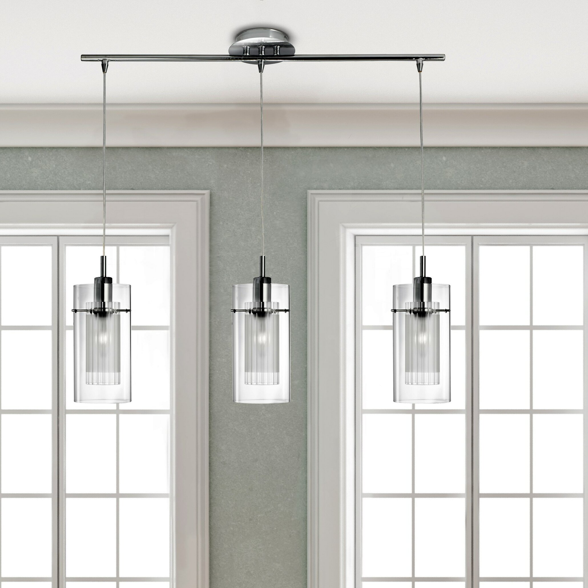 House Additions Duo 3 Light Kitchen Island Pendant
