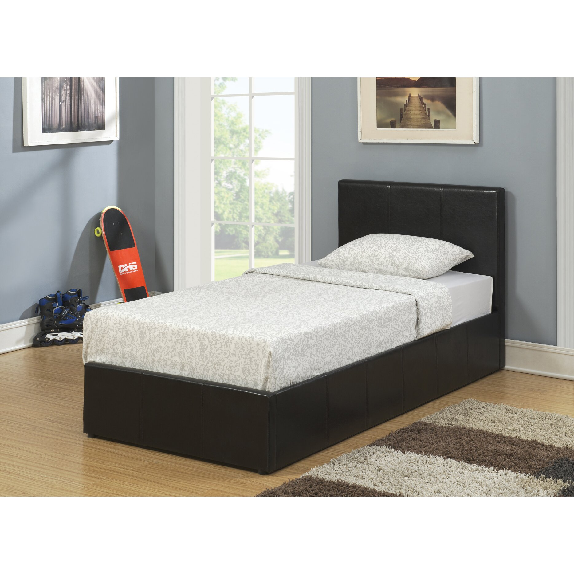 Ottoman For Bedroom Home Haus Essex Upholstered Ottoman Bed Reviews Wayfaircouk