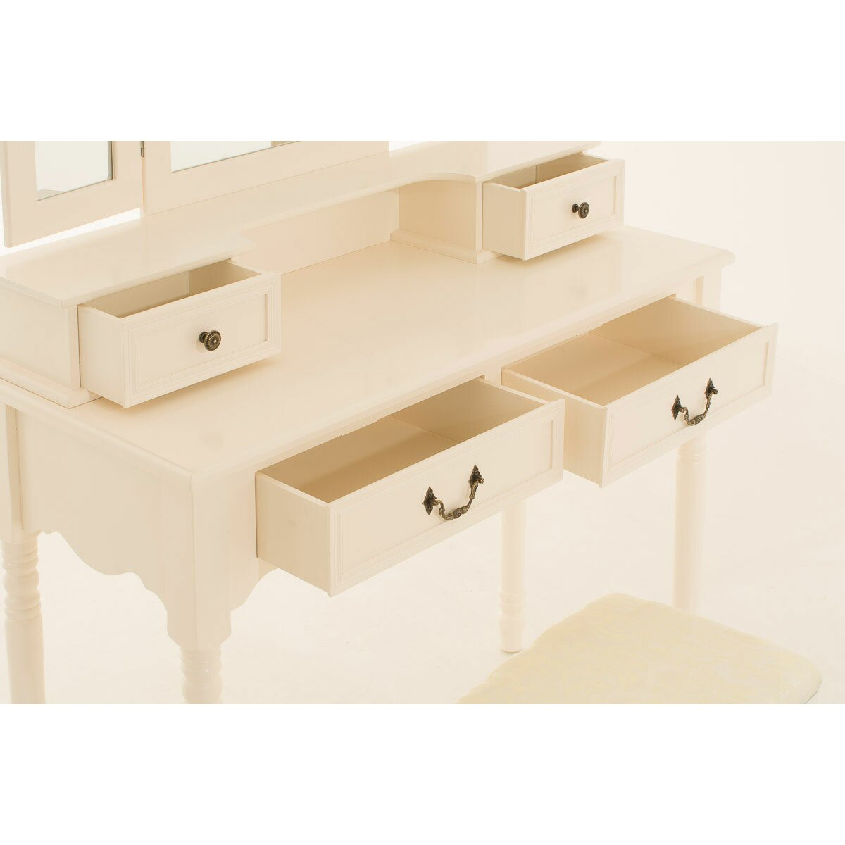 Home Haus Olivia Dressing Table Set With Mirror Reviews