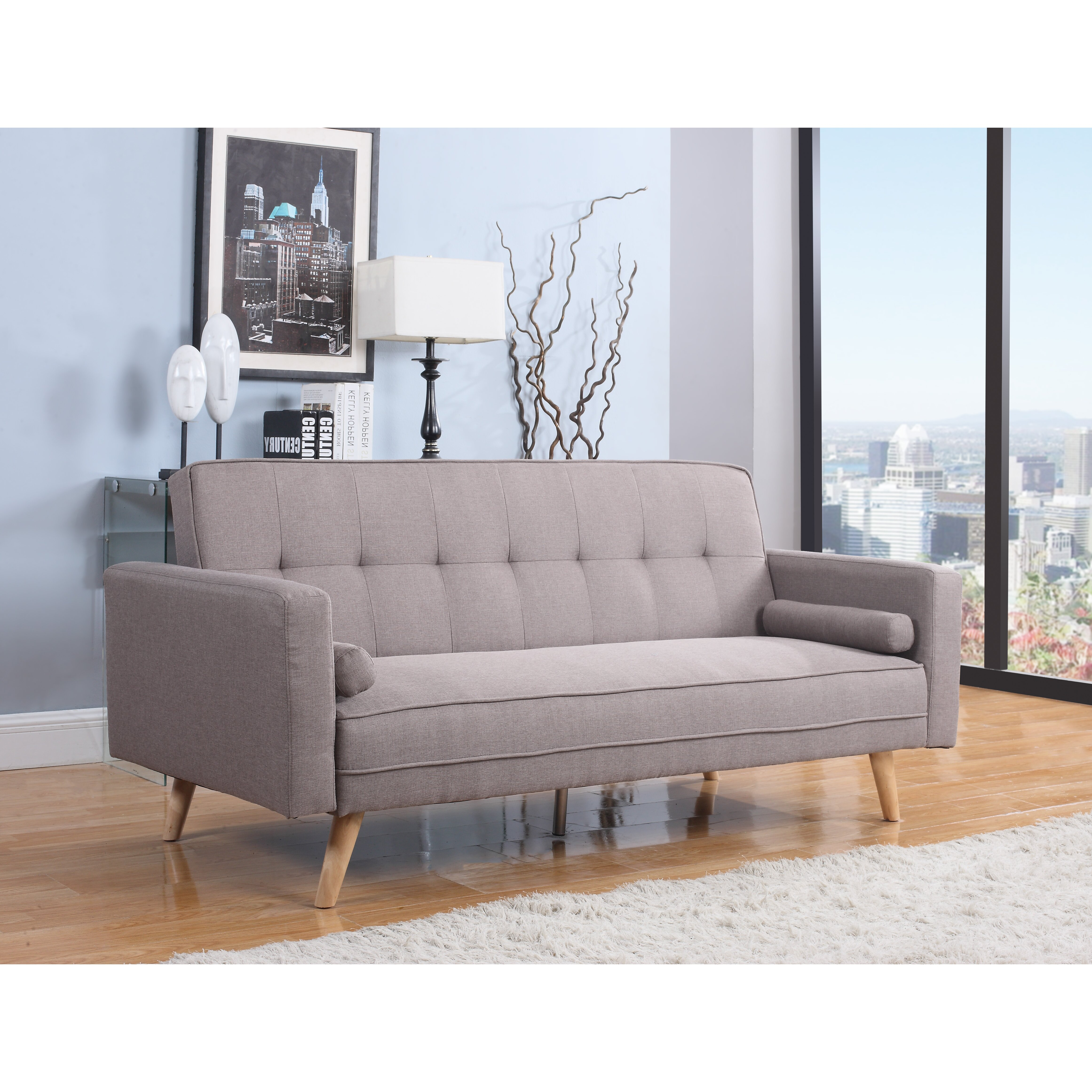 Home Amp Haus Ethan 3 Seater Sofa Bed Amp Reviews Wayfair Co Uk