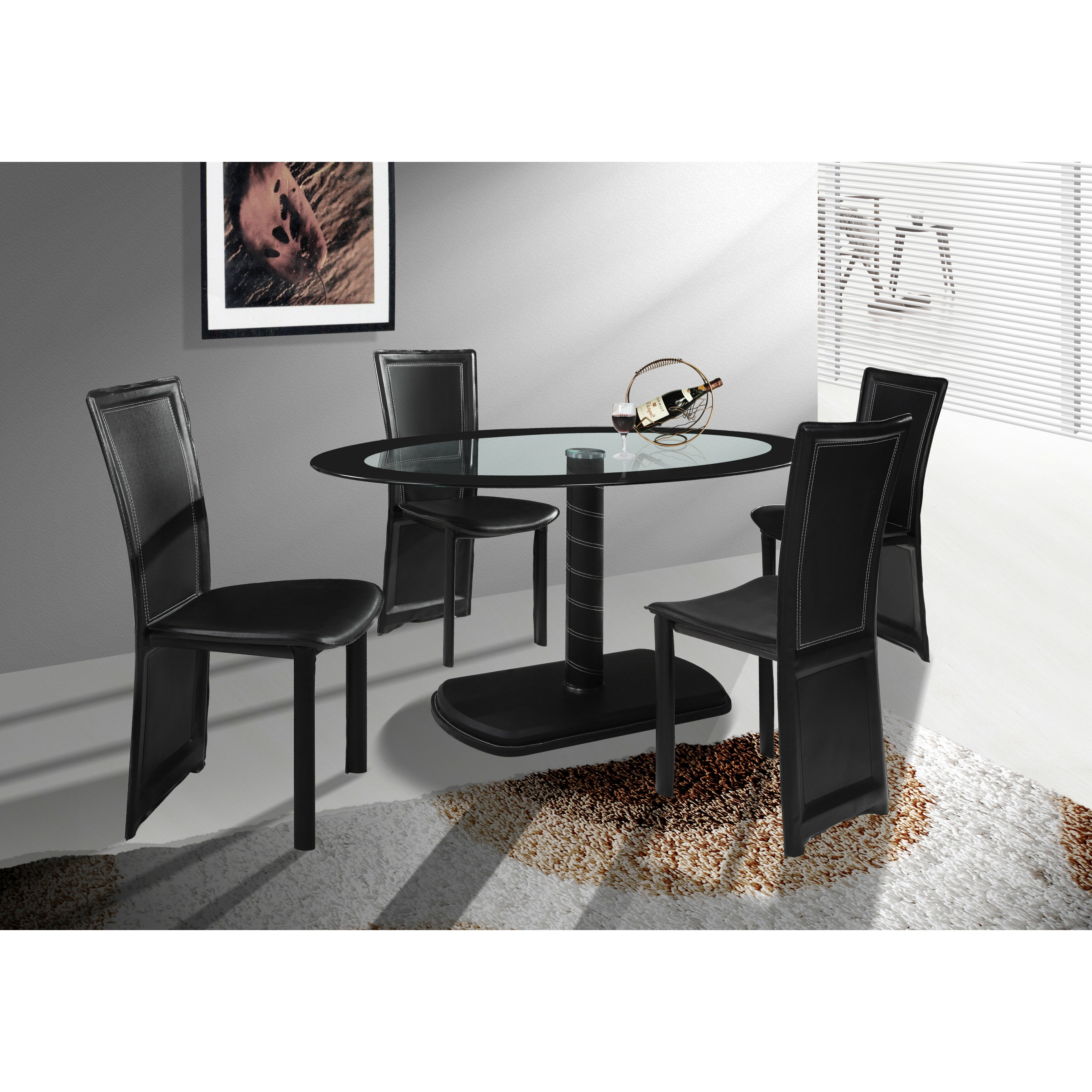 Home Haus Orson Dining Table And 4 Chairs Reviews
