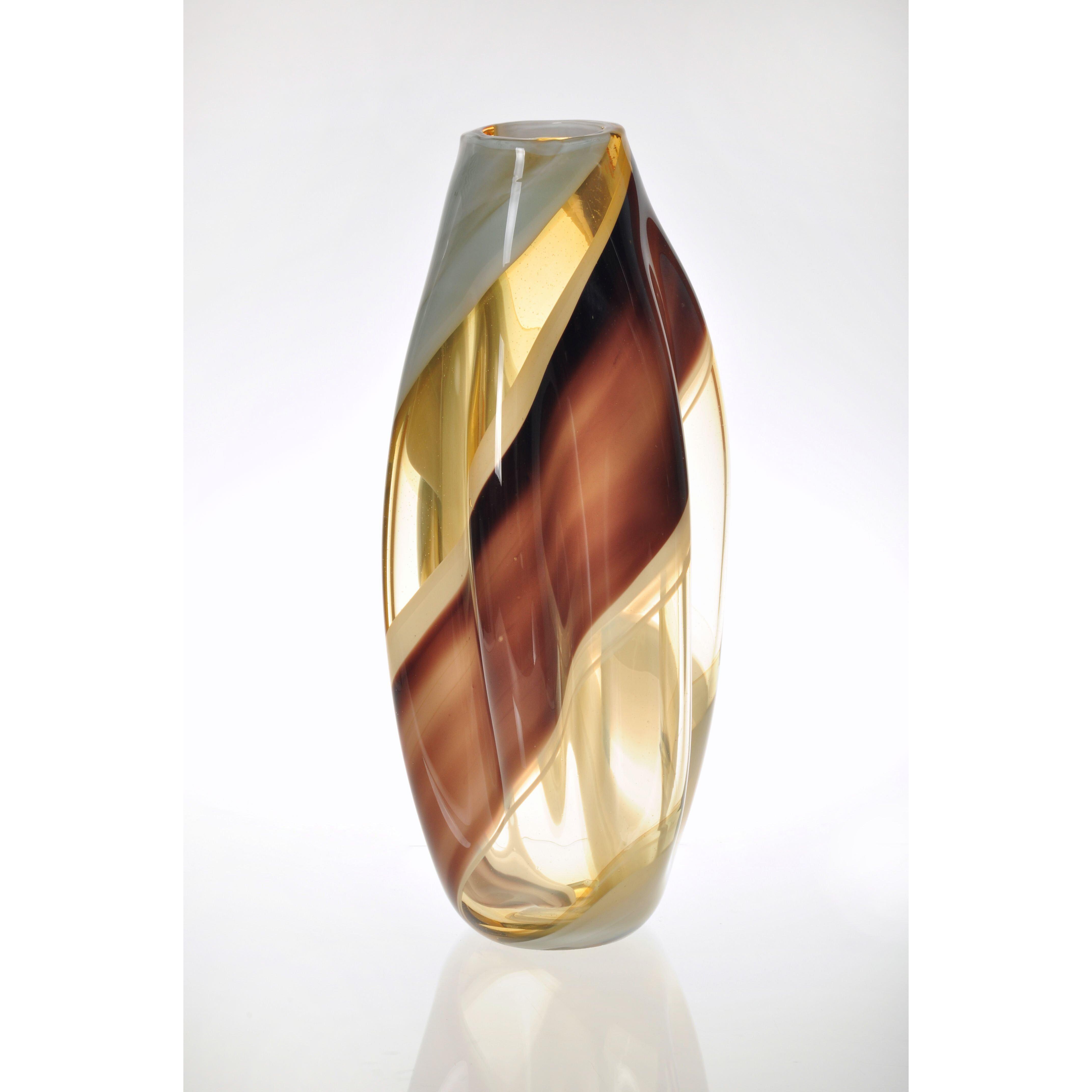 Viz glass terre moderne vase reviews wayfair - Moderne glasvasen ...