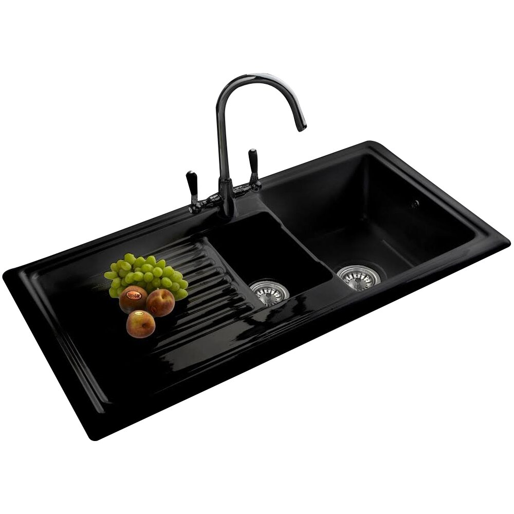 Granite Kitchen Sinks Uk Reginox 101cm X 525cm 1 1 2 Inset Kitchen Sink With Tap Reviews