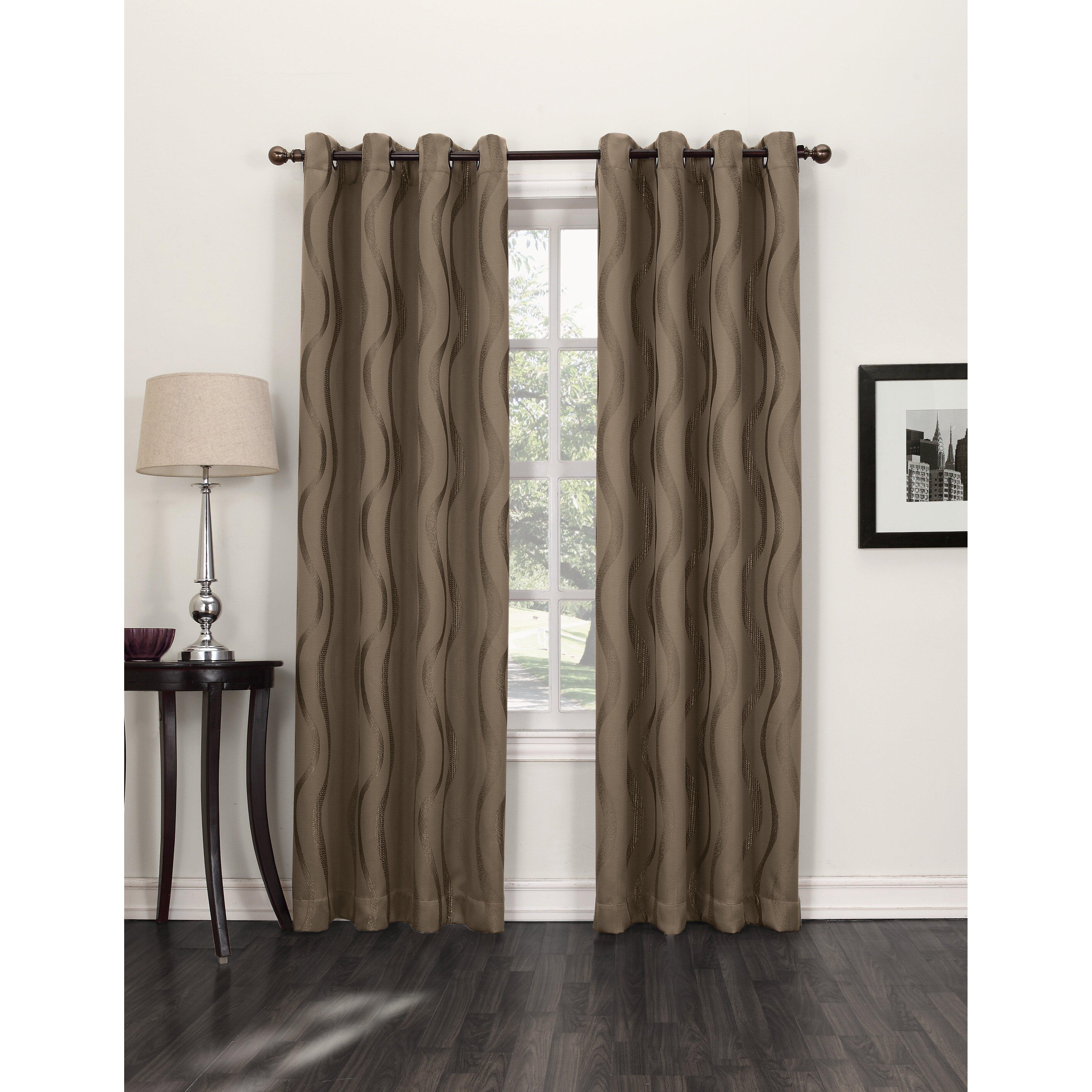 Short Length Bedroom Curtains Geometric Curtains Drapes Youll Love Wayfair