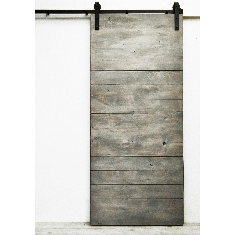 Latitude Wood 1 Panel Interior Barn Door. Sliding Barn Door Cabinet   Wayfair