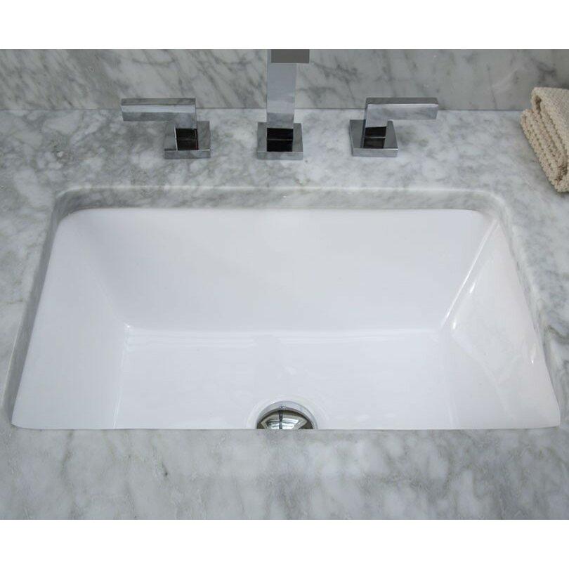 Ryvyr Undermount Rectangular Vitreous China Bathroom Sink. Ryvyr Undermount Rectangular Vitreous China Bathroom Sink