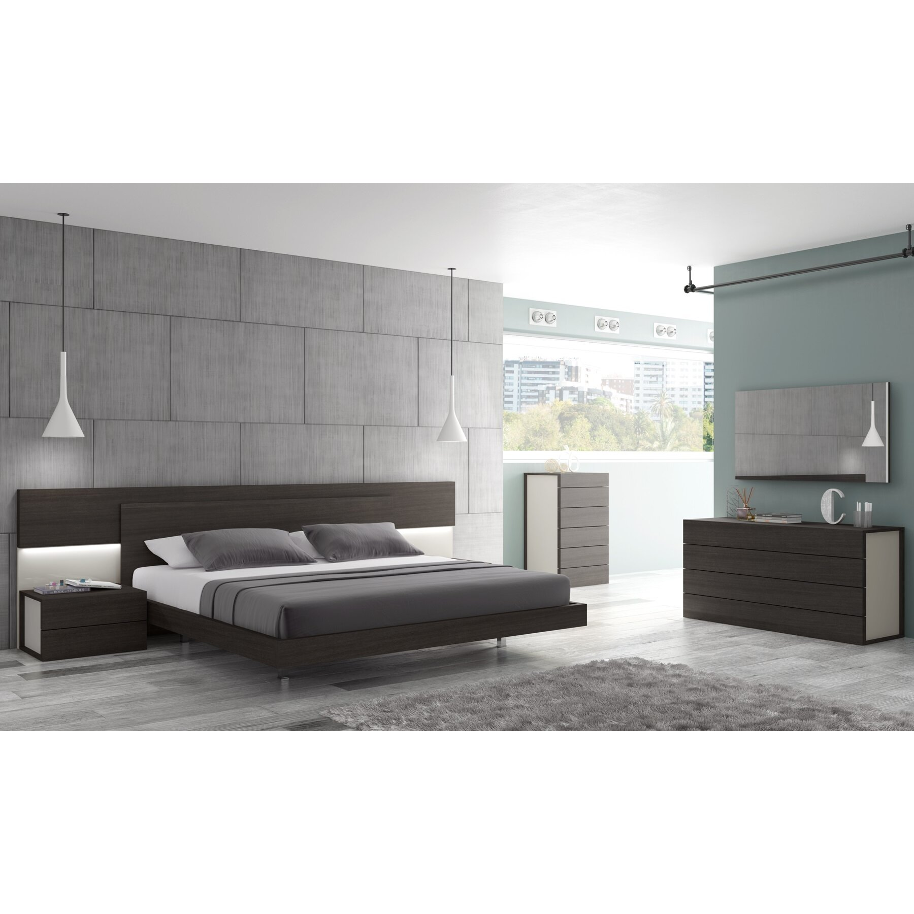 Modern black bedroom furniture - Black And White Bedroom Furniture Sets Image Of King