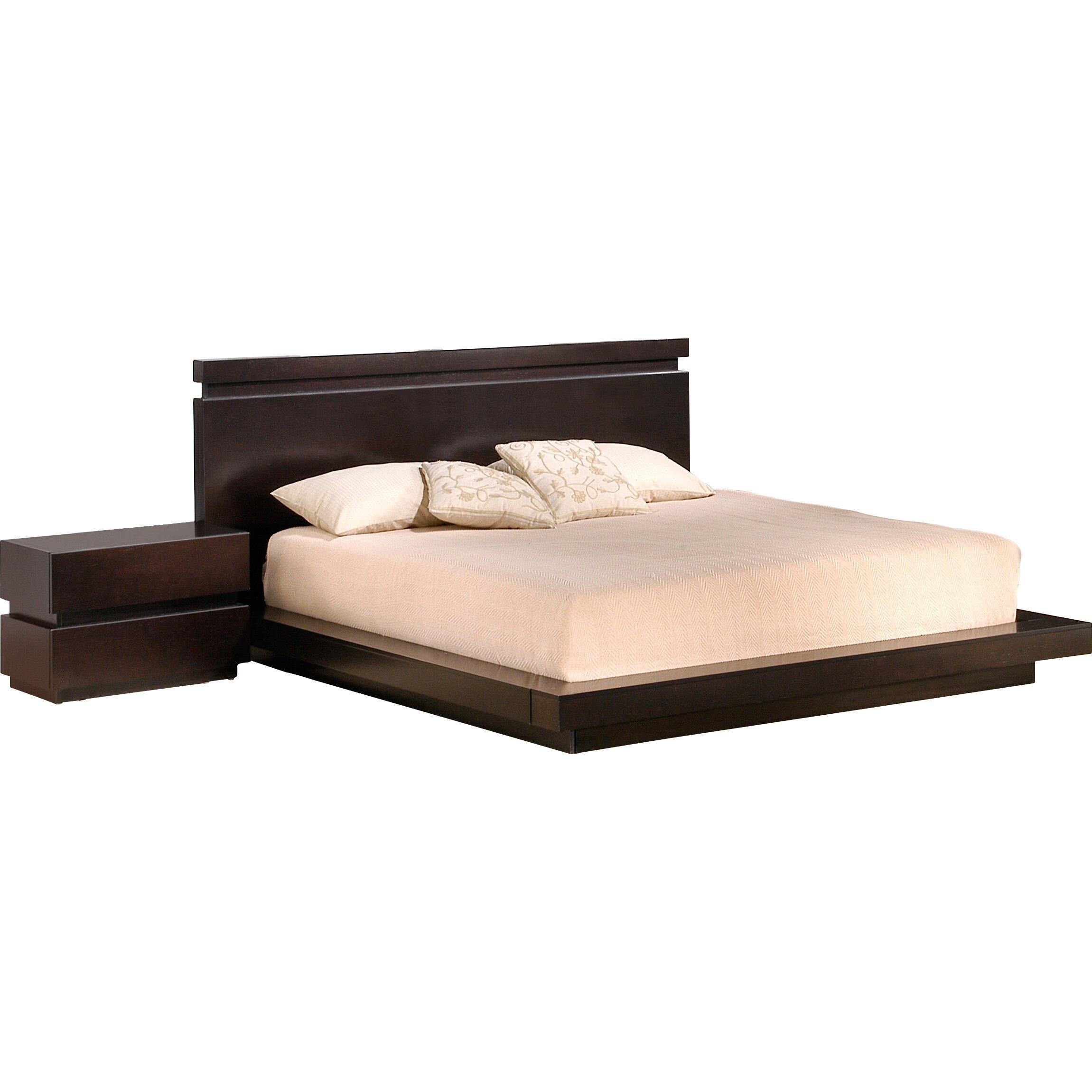 Platform Bedroom Furniture Knotch Platform Bed Reviews Allmodern