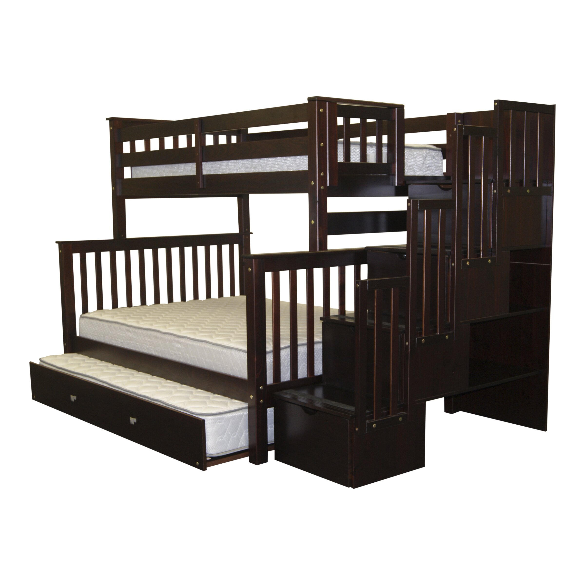bedz king twin over full bunk bed with trundle reviews. Black Bedroom Furniture Sets. Home Design Ideas