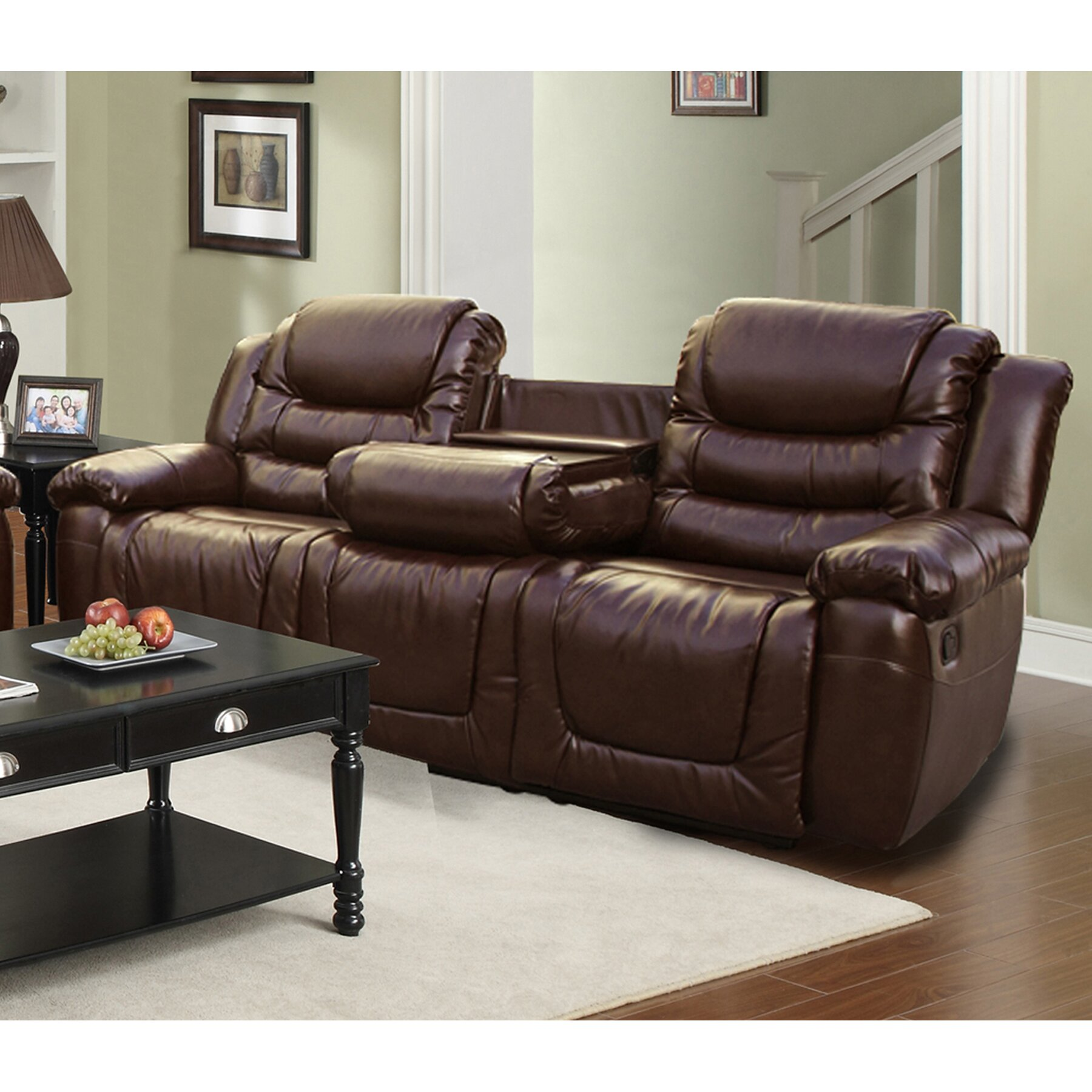 Beverly Fine Furniture Ottawa Leather Sofa & Reviews ...