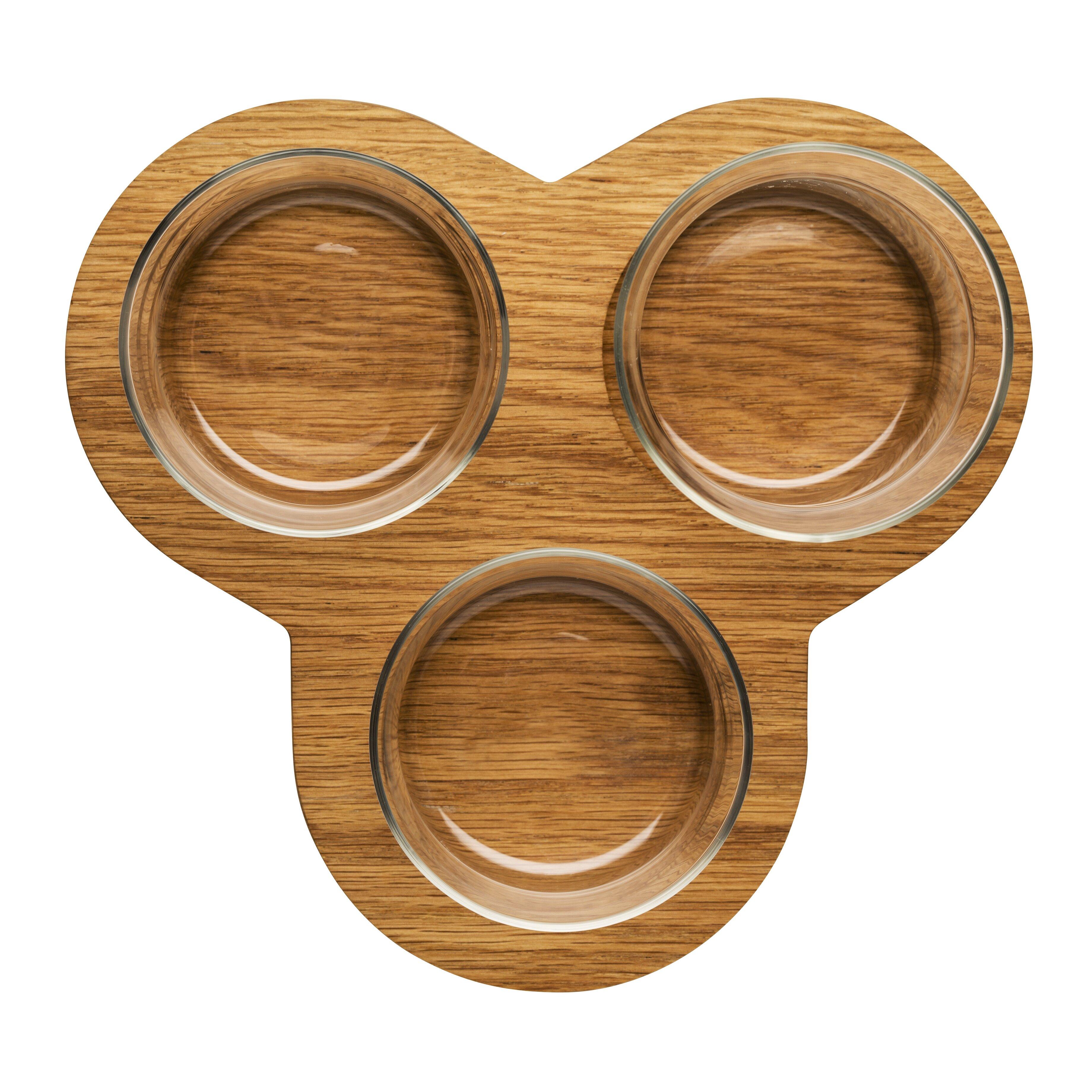 sagaform oval oak 4 piece serving set wayfair. Black Bedroom Furniture Sets. Home Design Ideas