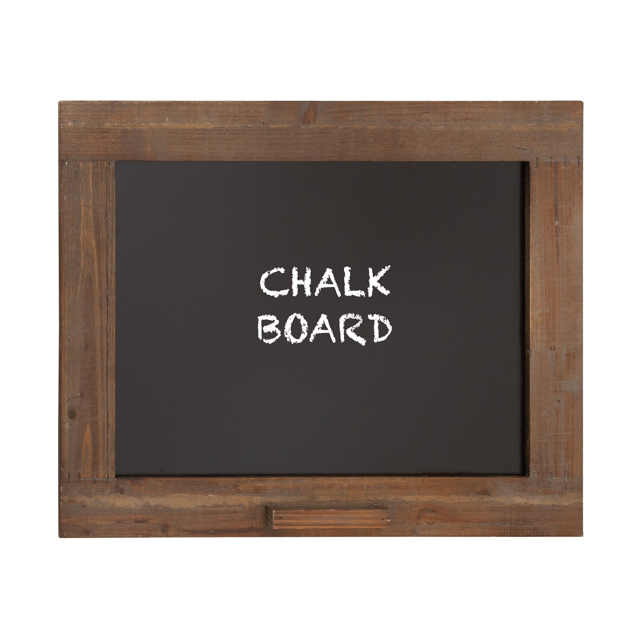 wooden frame with chalkboard