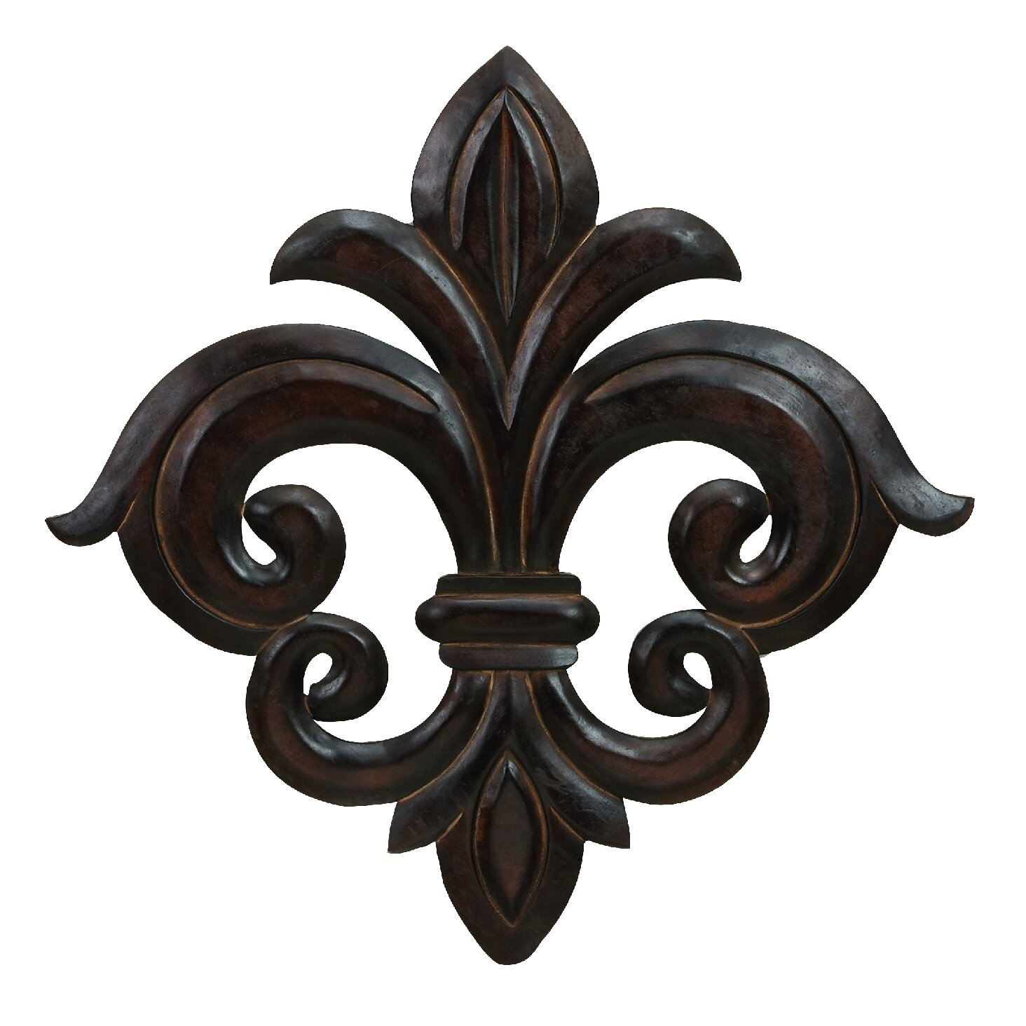 Cole - Grey Wood Fleur-De-Lis Wall Decor