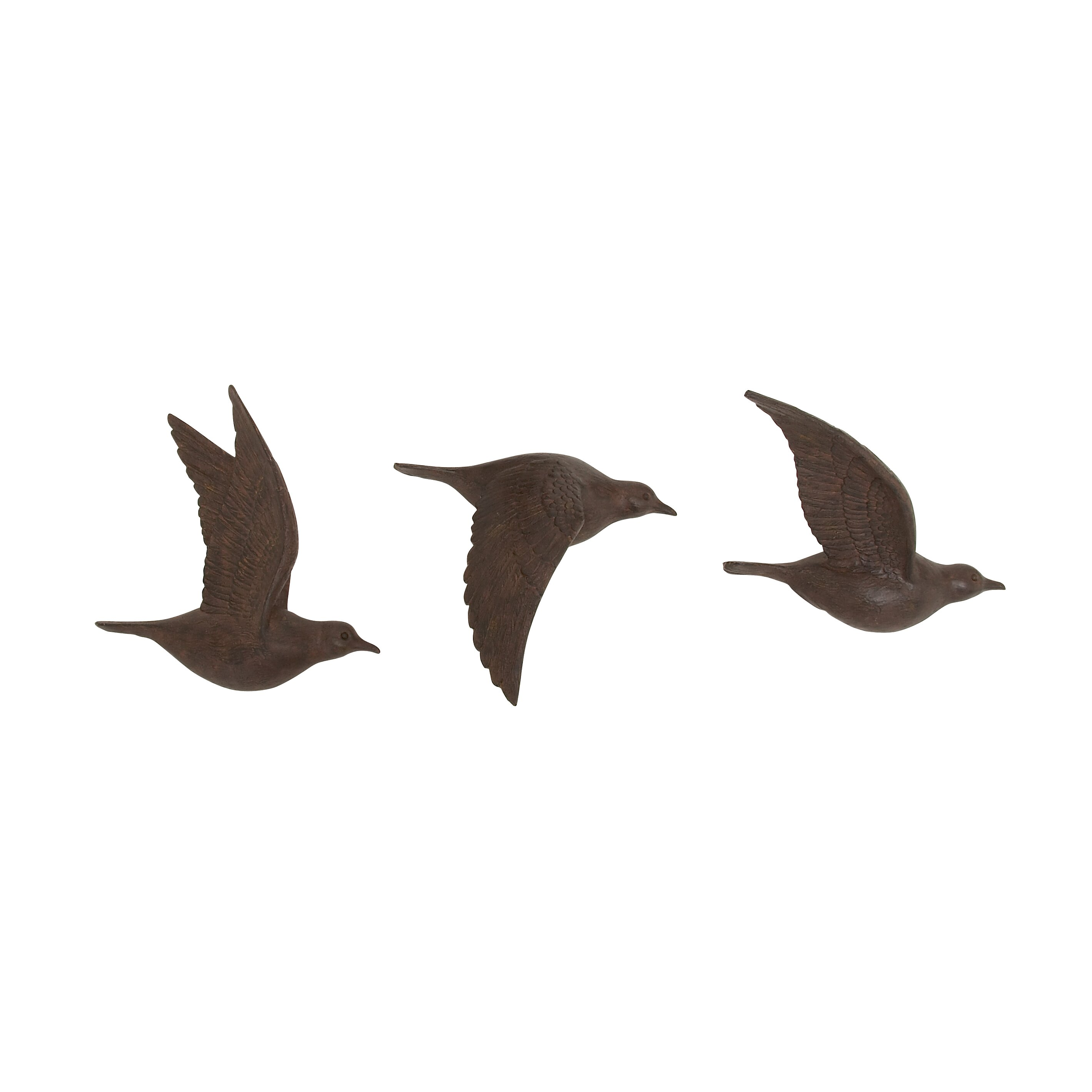 Cole - Grey 3 Piece Flying Birds Wall Decor Set