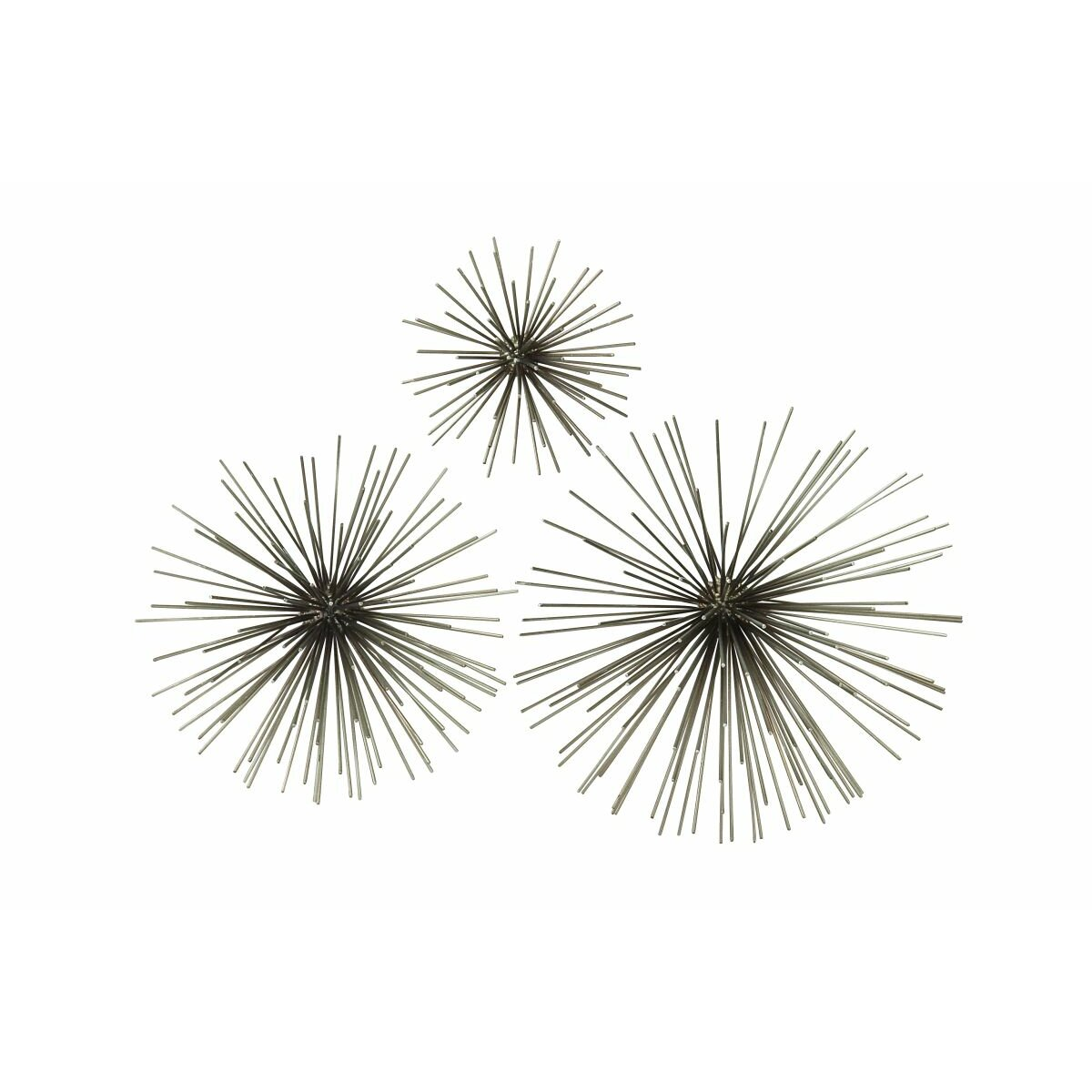 Cole - Grey 3 Piece Metal Starburst Wall Du0026eacute ...