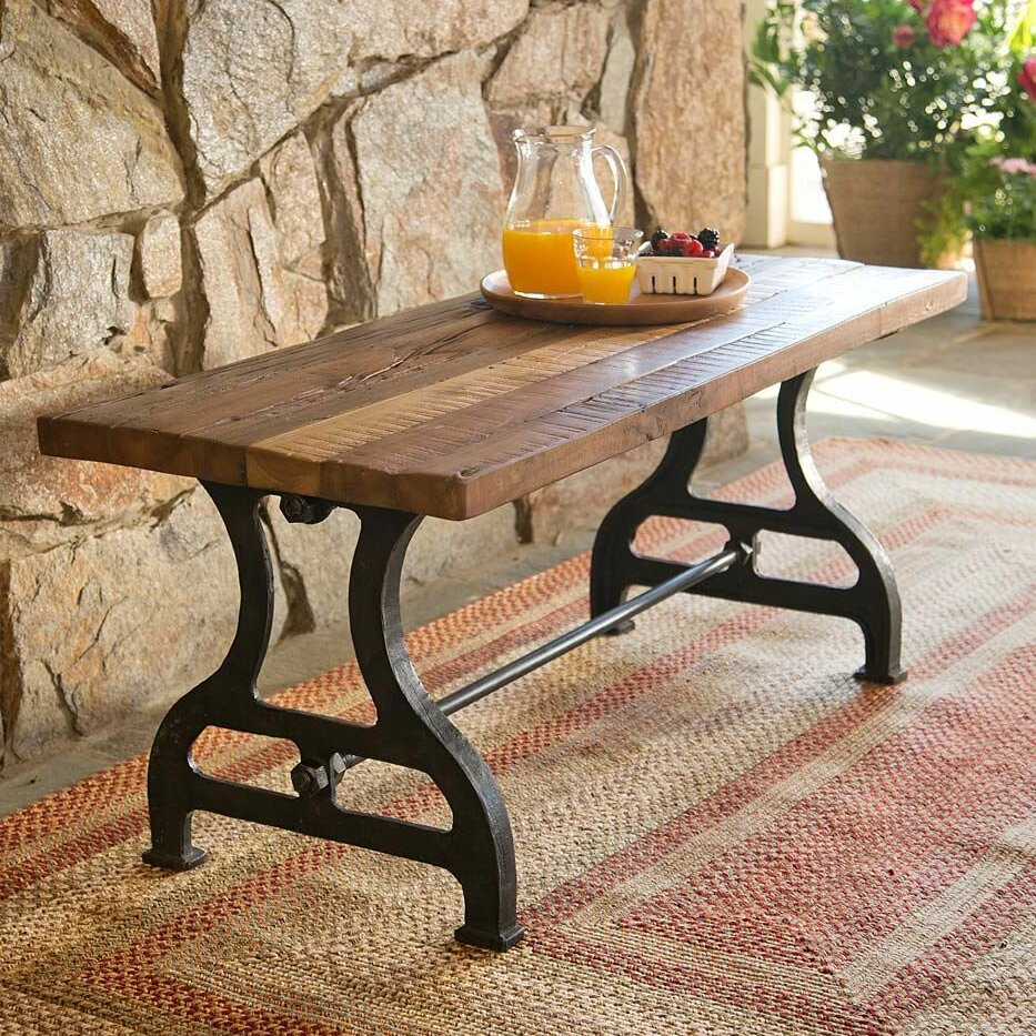 Plow hearth reclaimed wood iron garden bench reviews