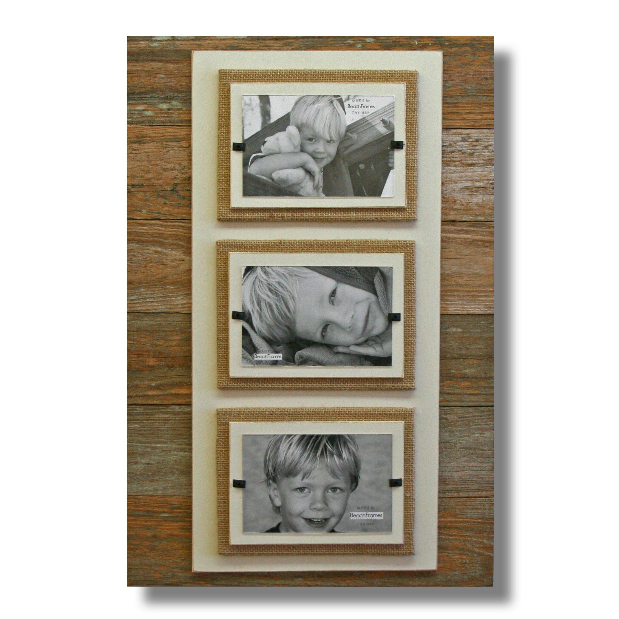 beach frames triple picture frame
