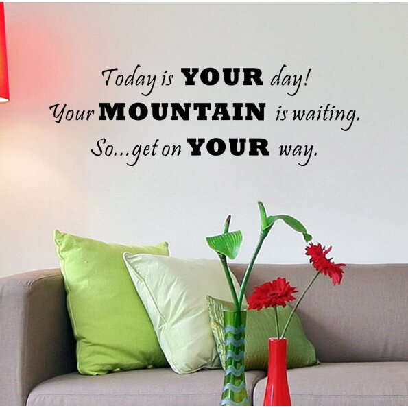 Wall Art Stickers Next Day Delivery : Pop decors today is your day wall decal wayfair
