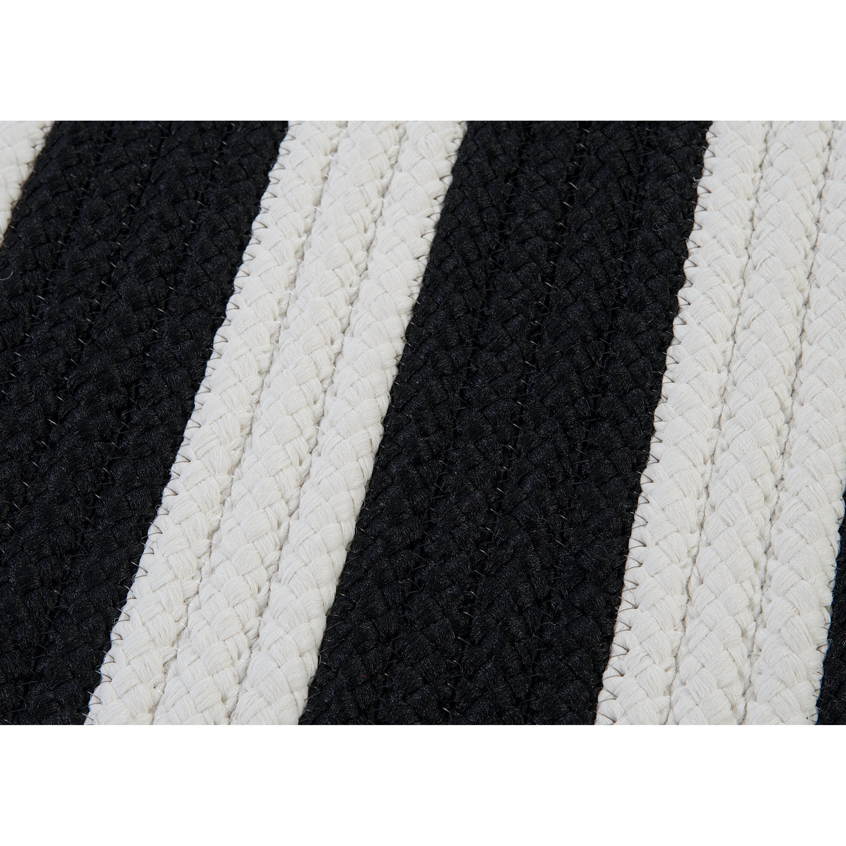 Colonial Mills Stripe It Black/White Indoor/Outdoor Area Rug