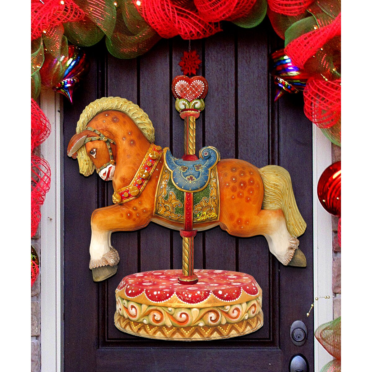 Decorative Door Hangers G Debrekht Carousel Horse Decorative Door Hanger Wayfair