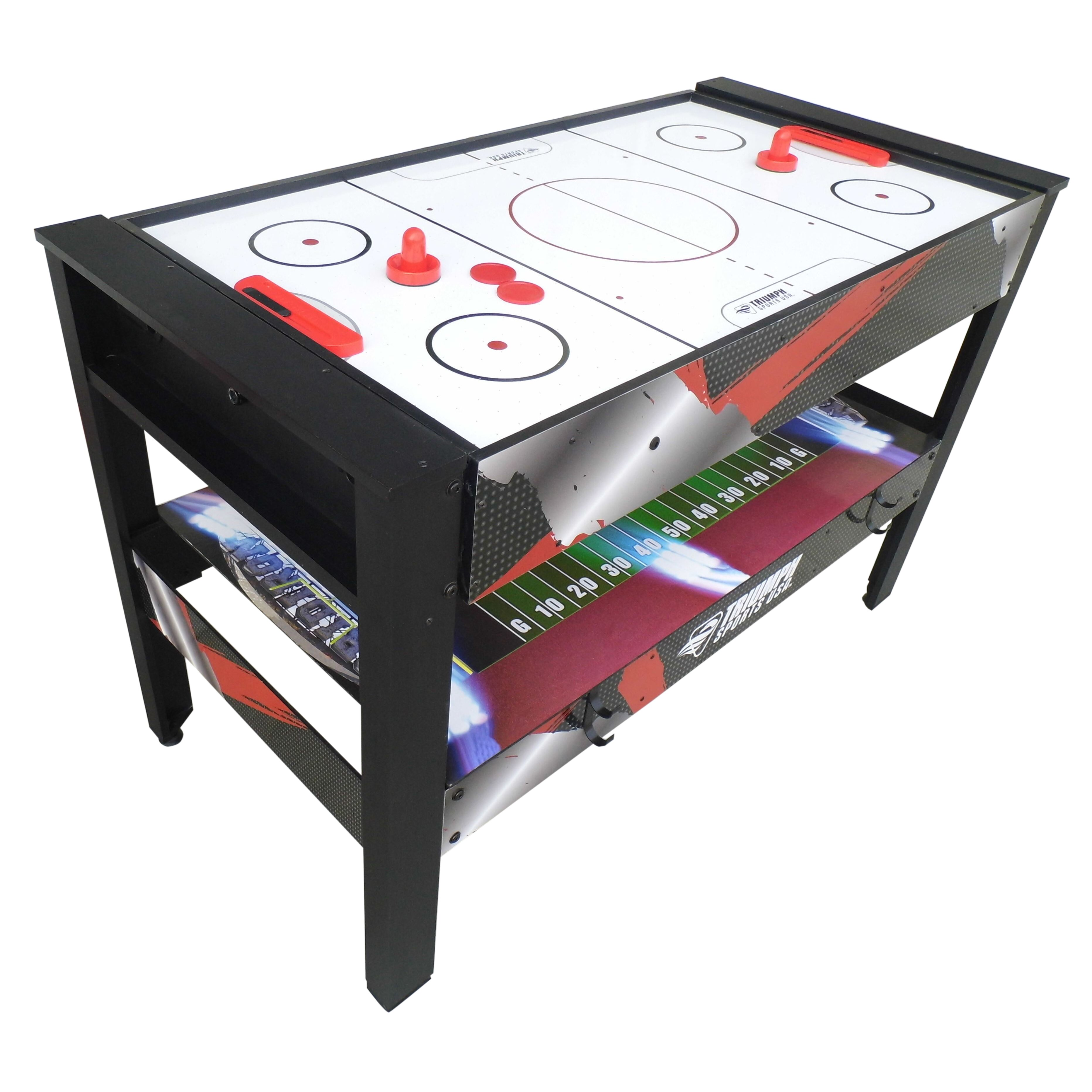 3 in 1 ping pong pool air hockey table - Triumph Sports Usa 4 In 1 4 Rotating Game Table