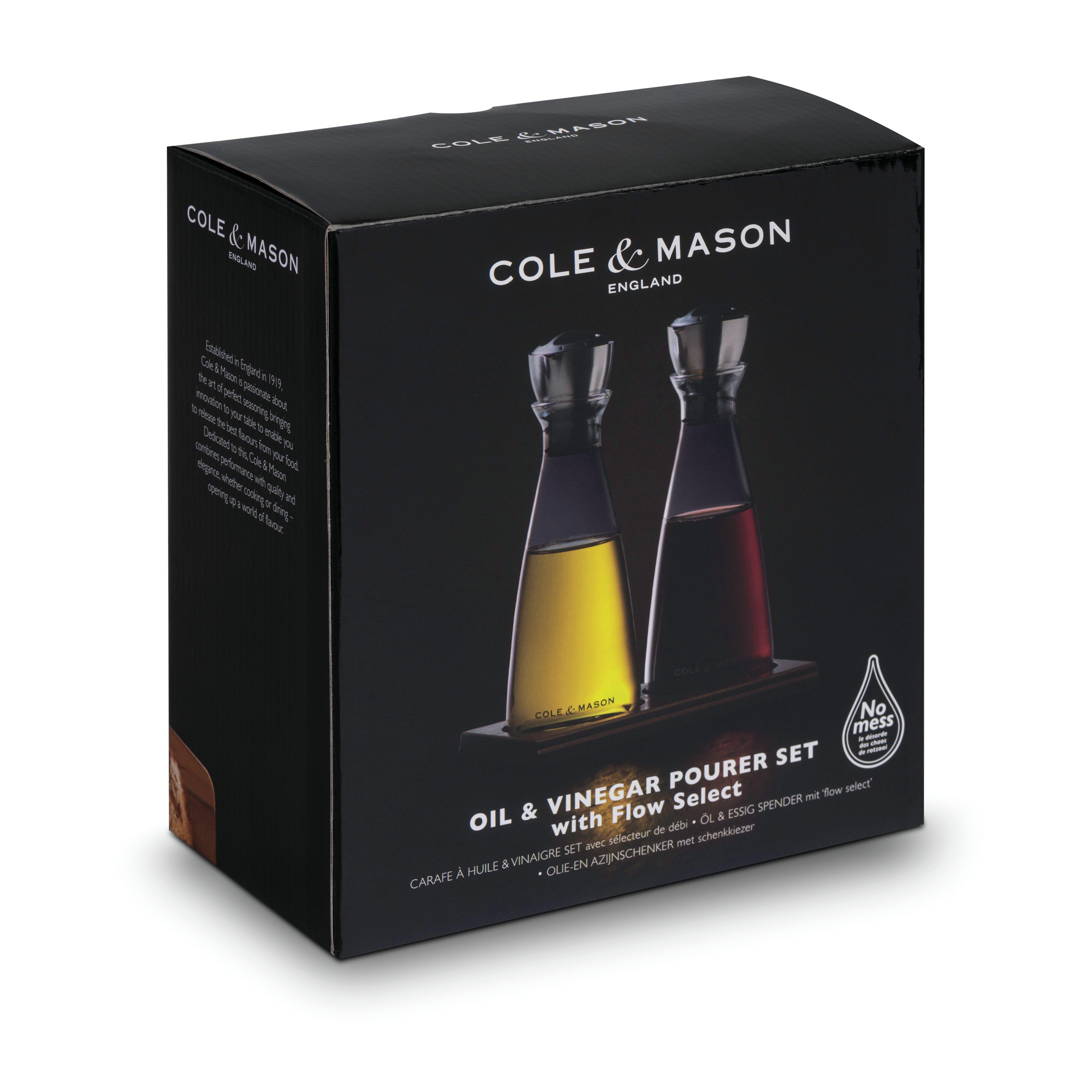 cole mason 2 tlg essig und lspender set flow select. Black Bedroom Furniture Sets. Home Design Ideas