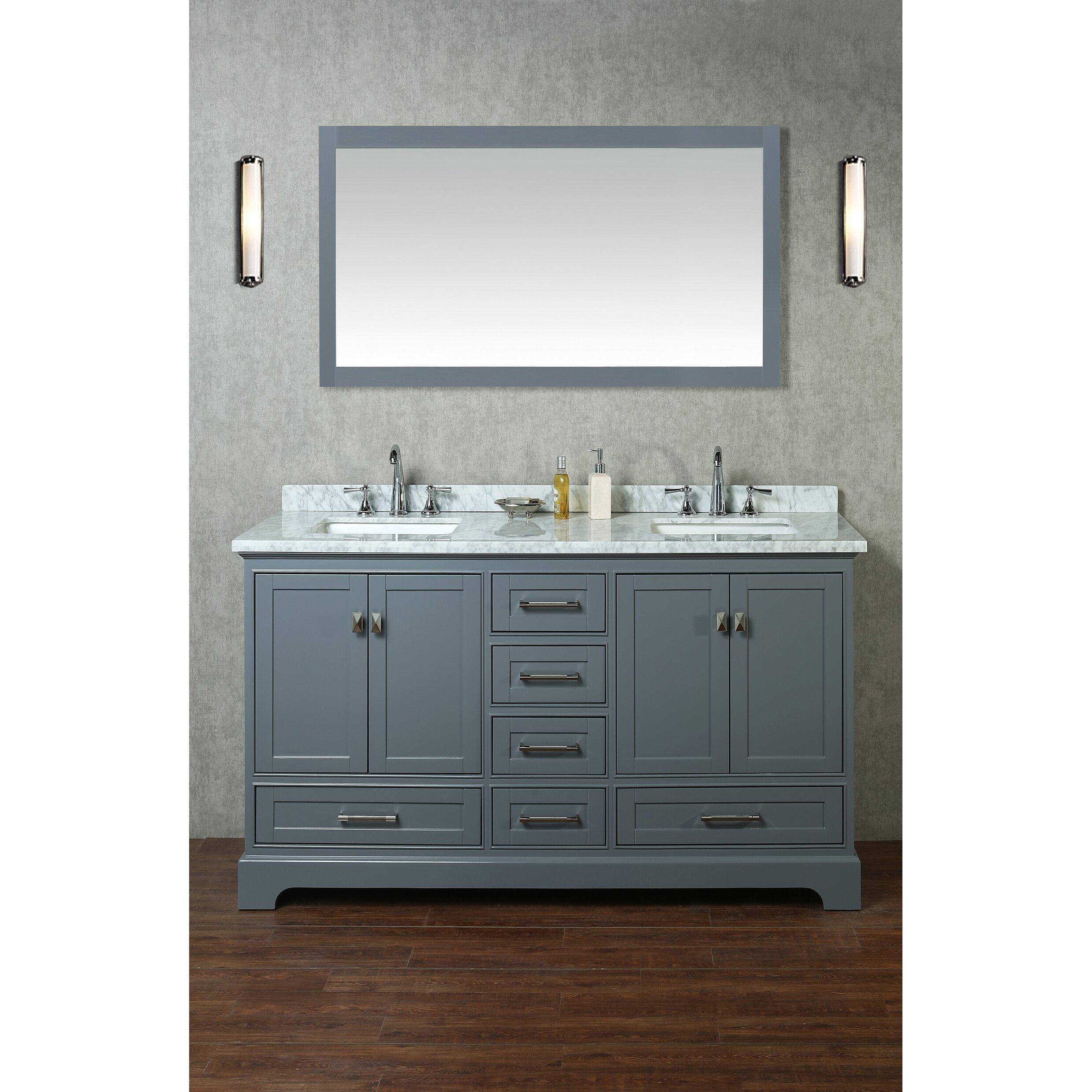 Great Rent A Bathroom Perth Tall 3d Floor Tiles For Bathroom India Shaped Bathroom Wall Fixtures Home Depot Bath Renovation Youthful Delta Faucets For Bathtub SoftKitchen And Bathroom Design Certificate DCOR Design Barrington 60\u0026quot; Double Sink Bathroom Vanity Set With ..