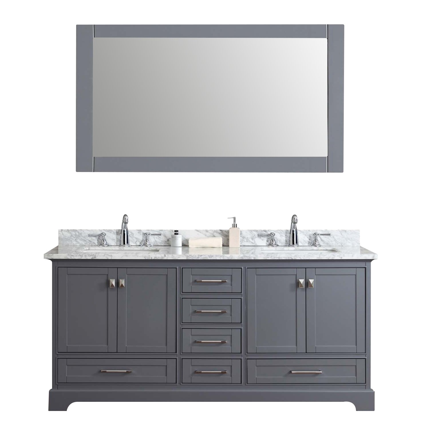 Dcor Design Barrington 72 Double Sink Bathroom Vanity Set