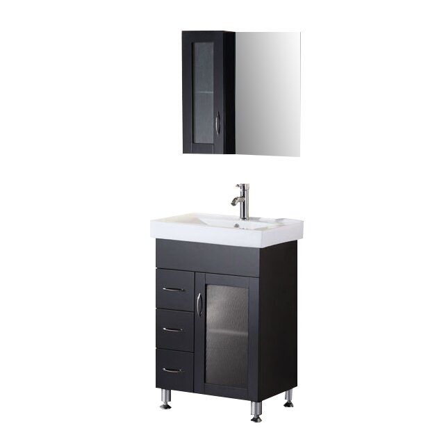 Dcor Design Pratt 24 Single Bathroom Vanity Set With Mirror Reviews