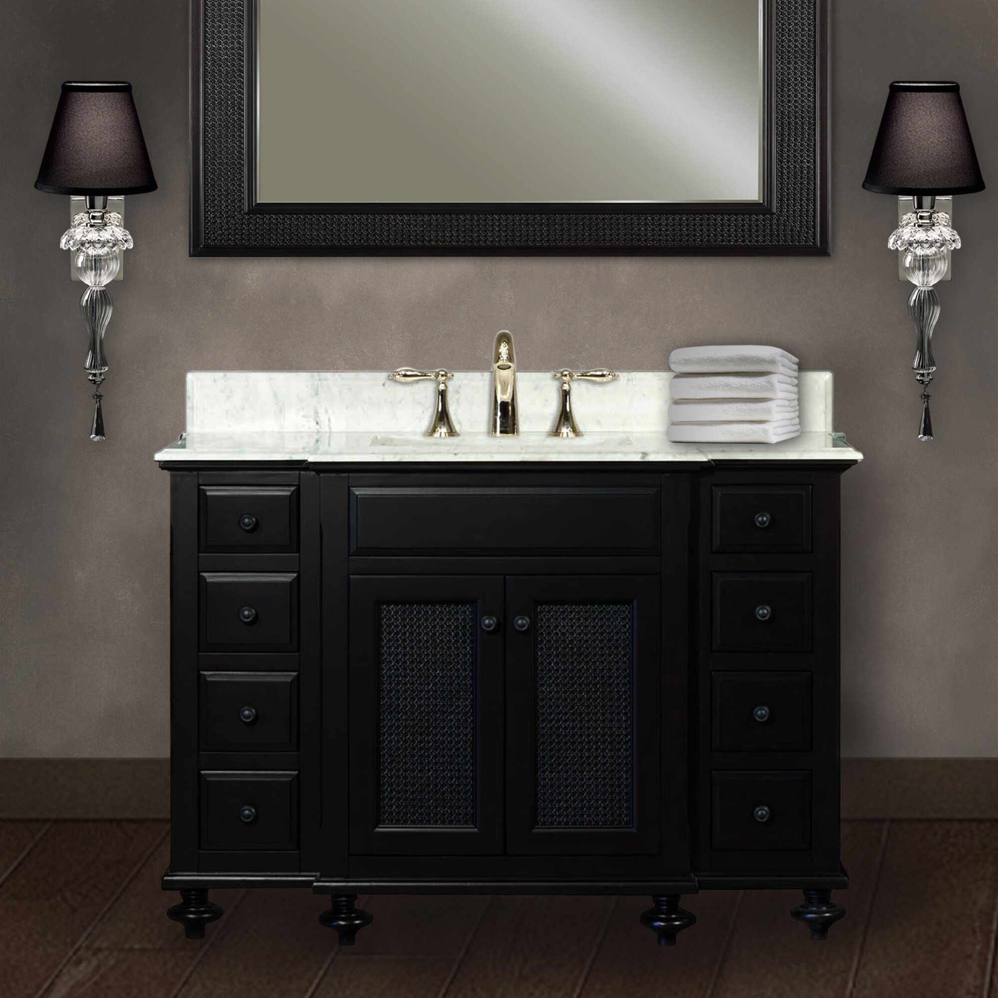 Dcor Design Carlson 48 Single Bathroom Vanity Set With Mirror