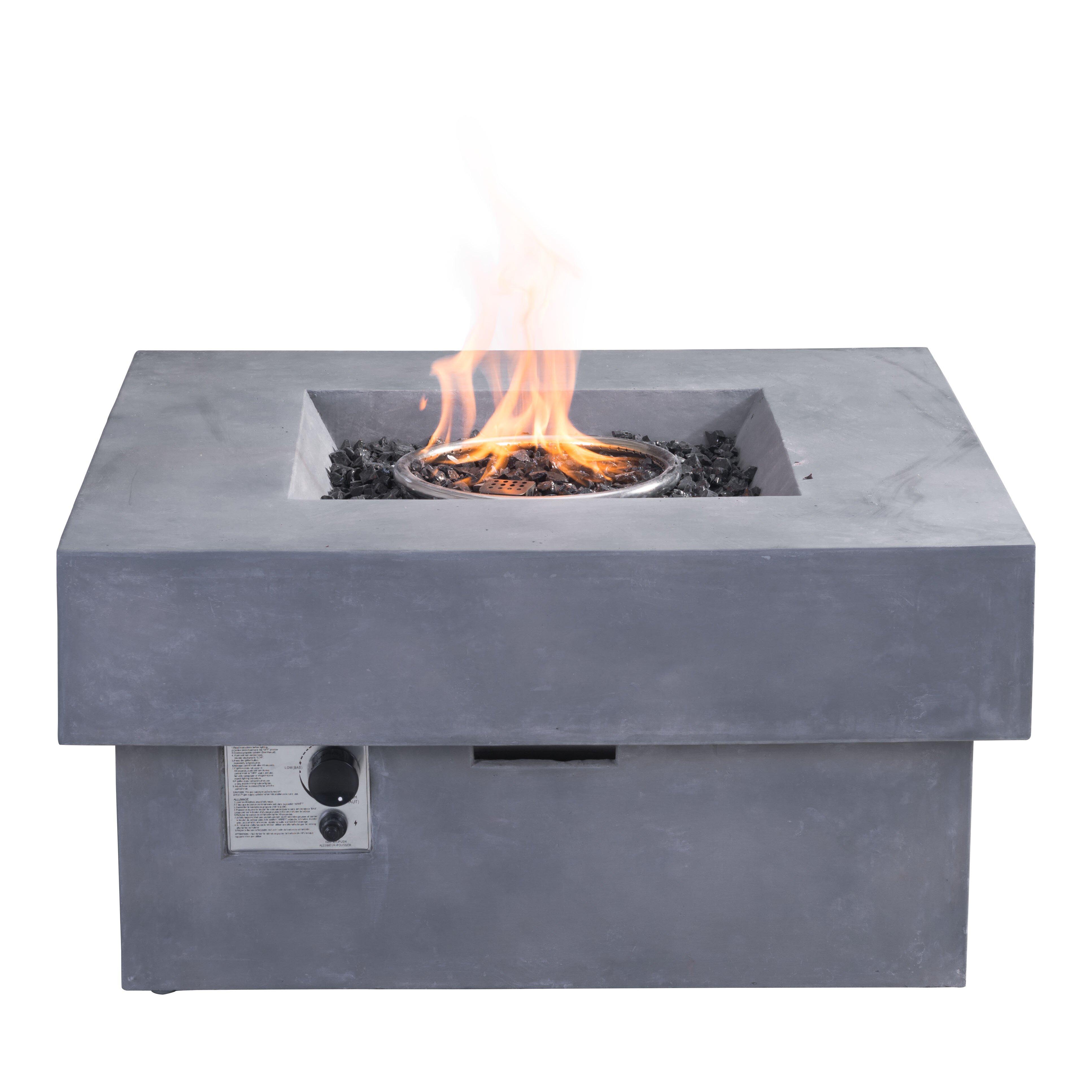 dcor design concrete fibre propane fire pit table reviews. Black Bedroom Furniture Sets. Home Design Ideas