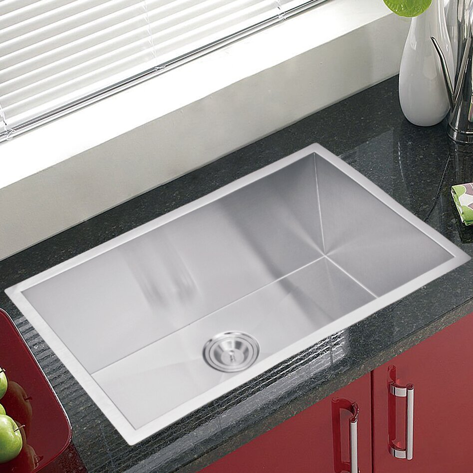 dcor design brier single bowl kitchen sink  reviews  wayfair - dcor design brier single bowl kitchen sink