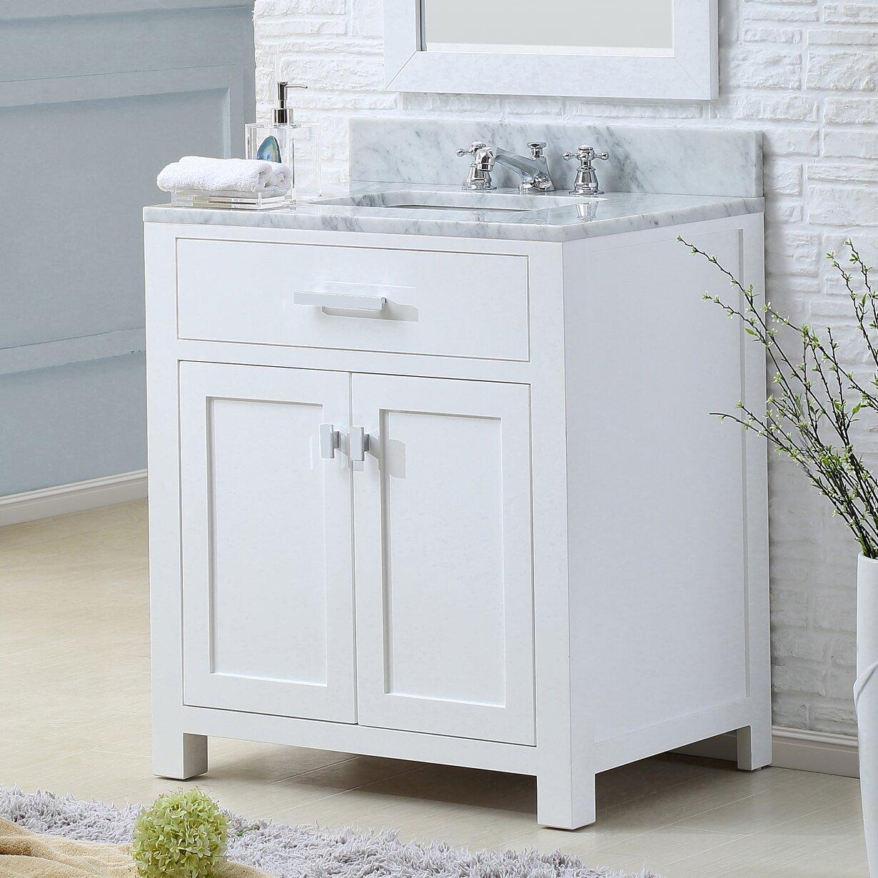 30 Bathroom Cabinet Dcor Design Creighton 30 Single Bathroom Vanity Set Reviews