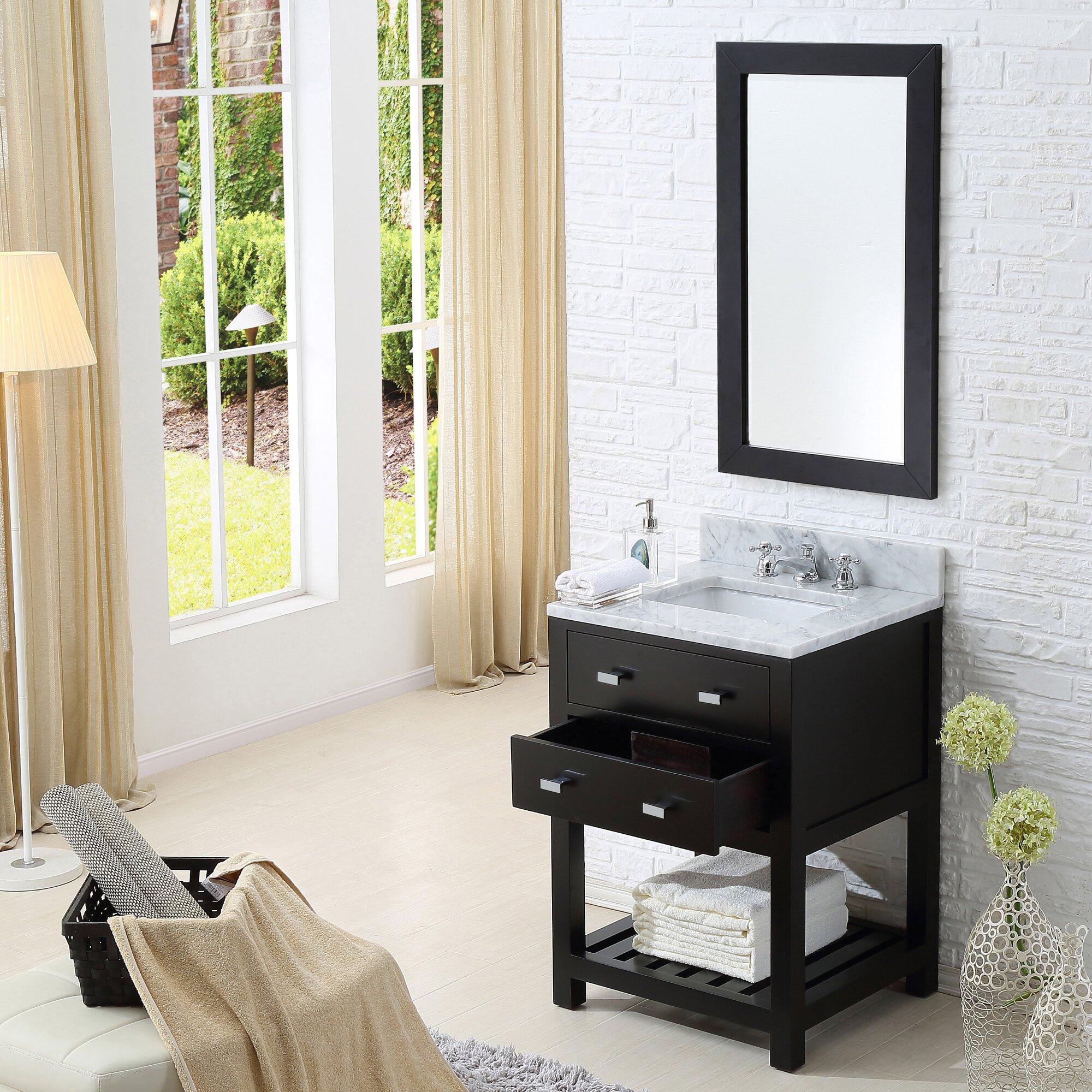 "dcor design creighton 24"" single bathroom vanity set & reviews"
