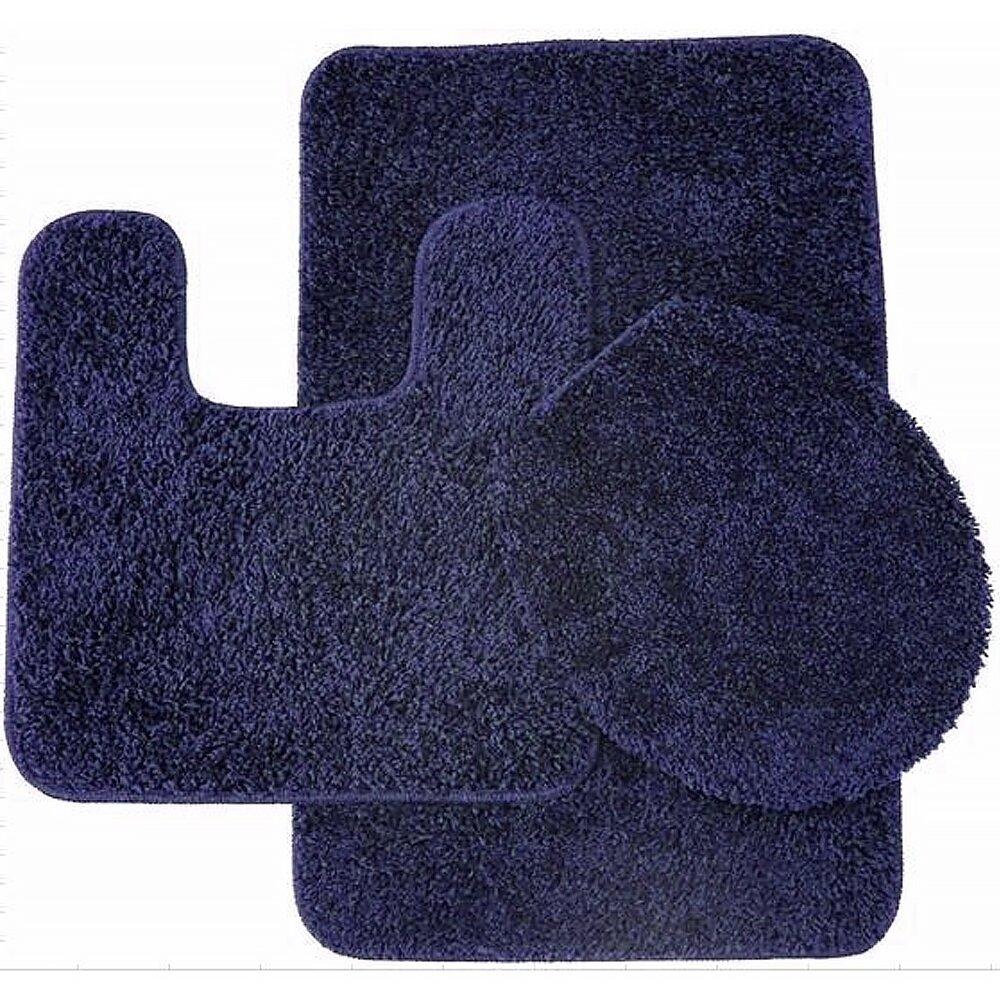 Plush Bathroom Rugs Sweet Home Collection 3 Piece Shag Bathroom Rug Set Reviews
