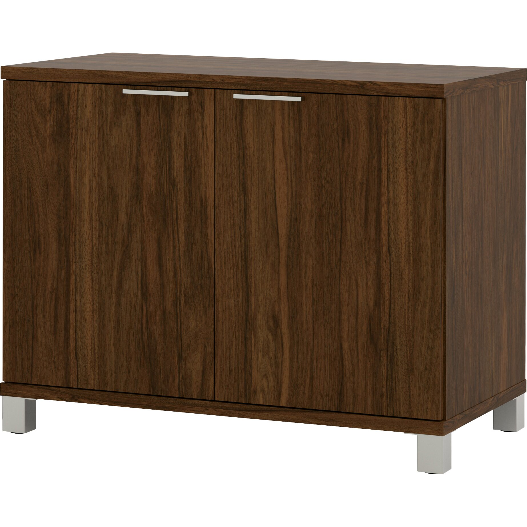 Wooden Storage Cabinets With Doors Mercury Row Ariana 2 Door Storage Cabinet Reviews Wayfair